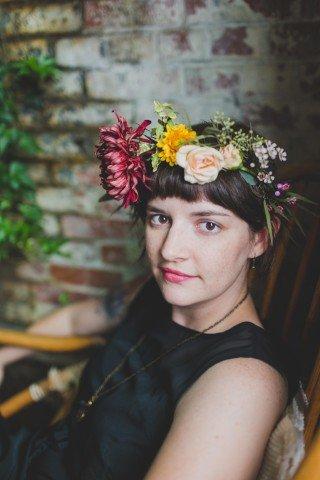 BeePie, floral crown, portraits