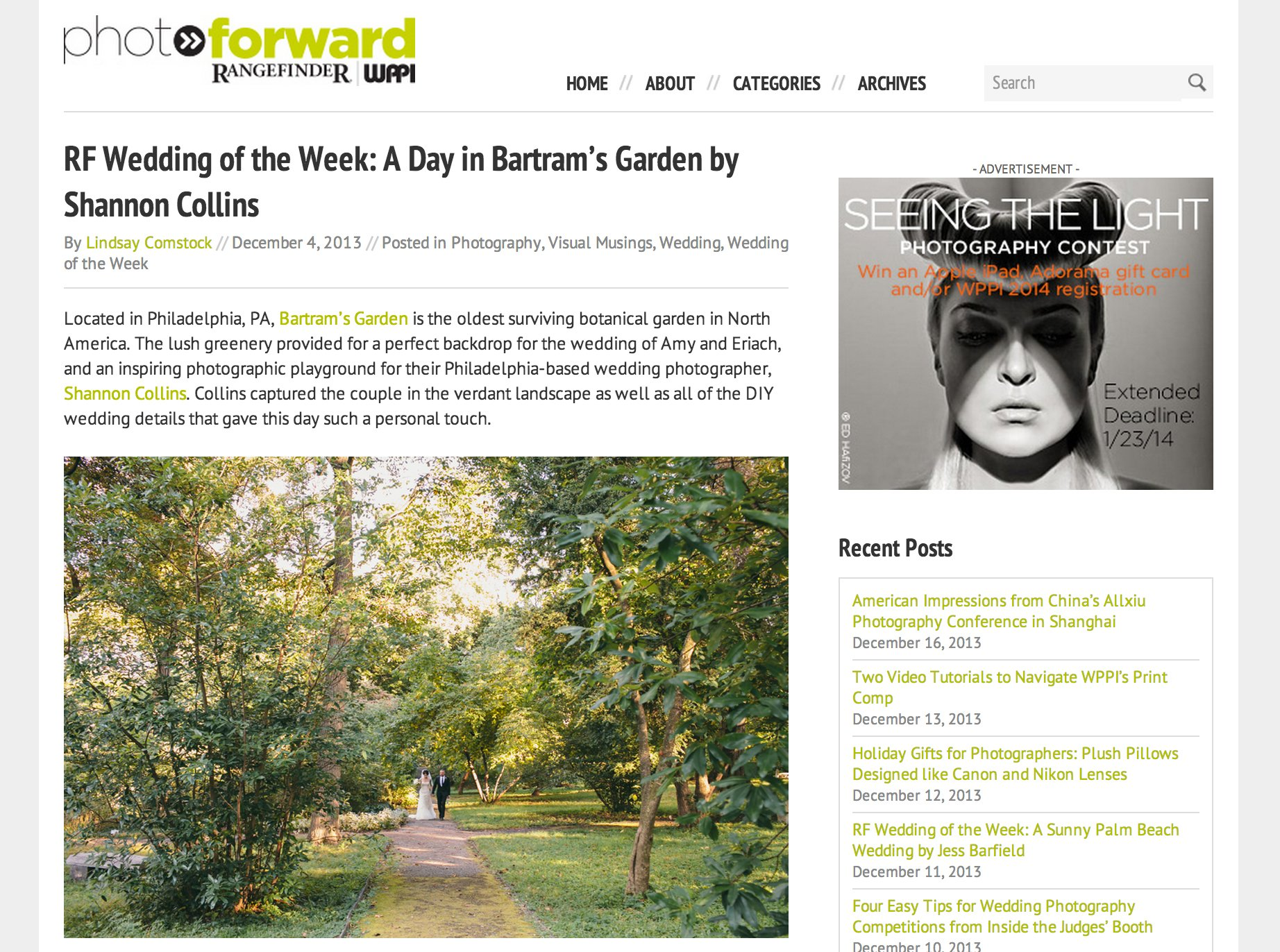 Rangefinder Magazine, wedding of the week