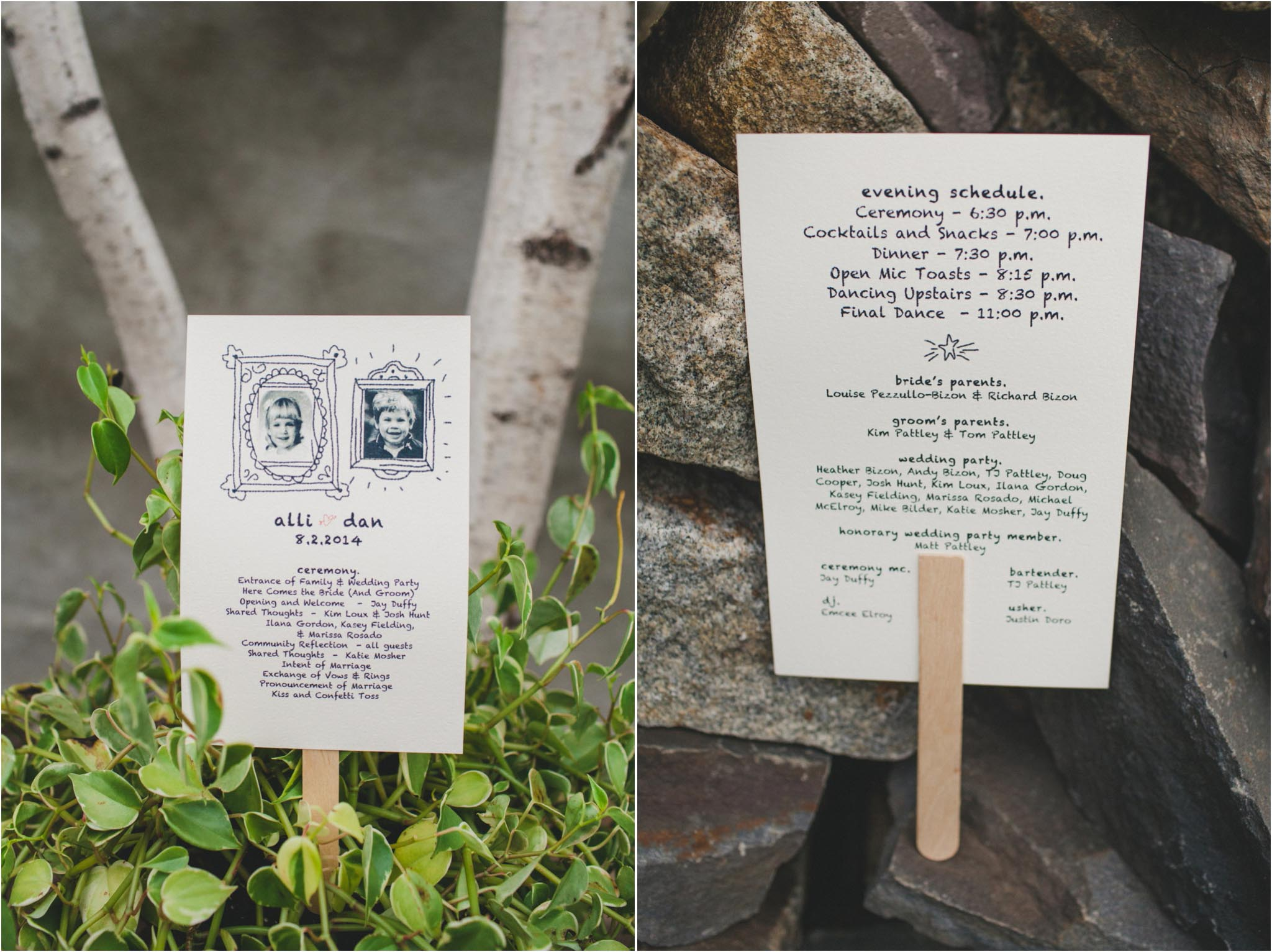 wedding programs, Philadelphia