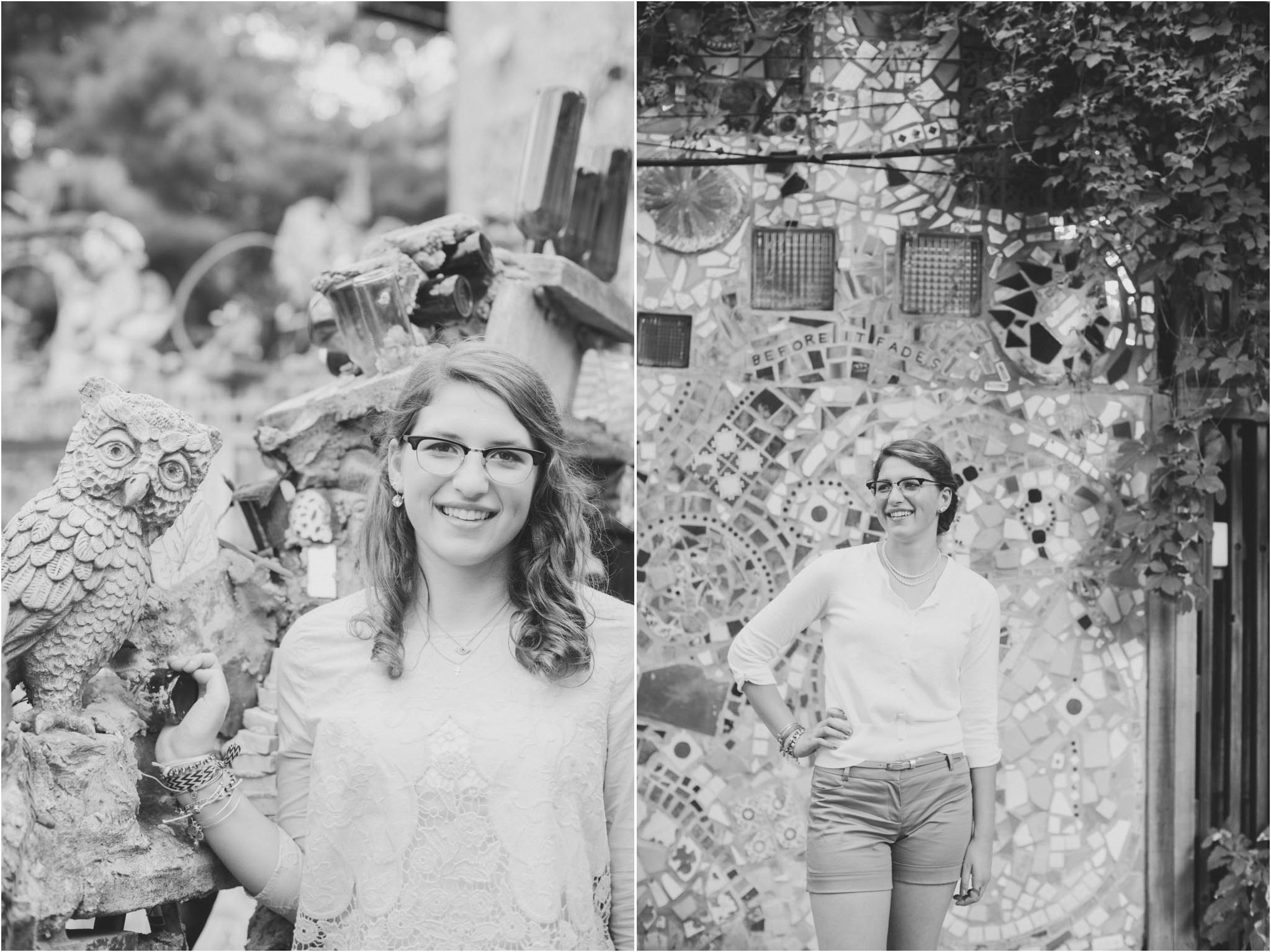 senior photos, Magic Gardens