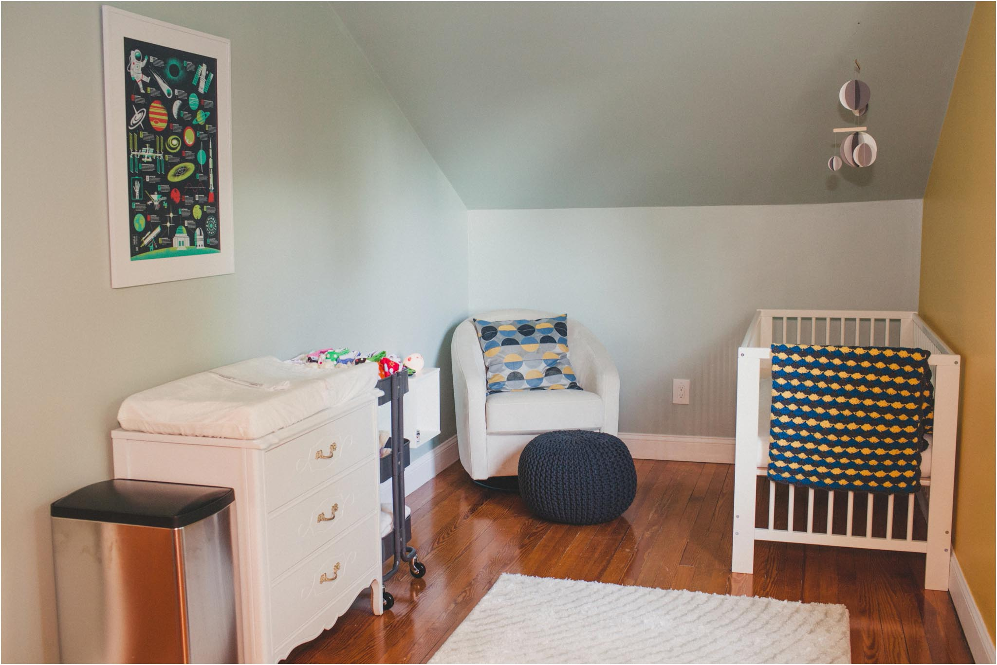 Room tour an outer space inspired nursery shannon for Outer space decor for nursery