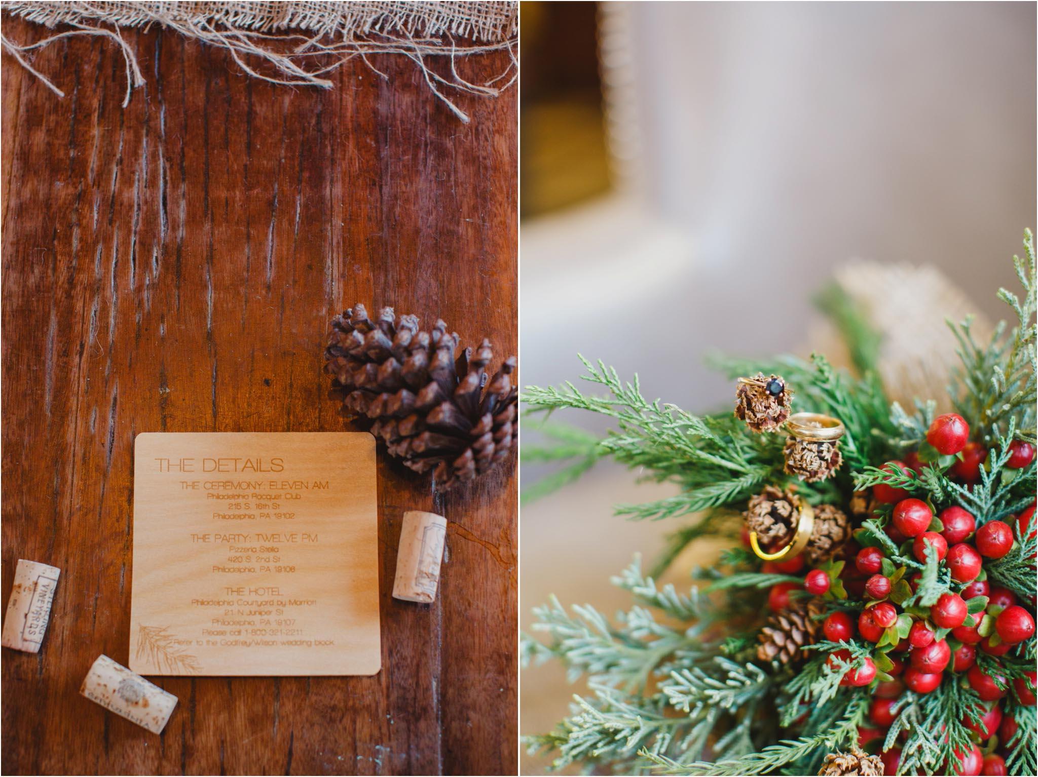 winter wedding, Philadelphia