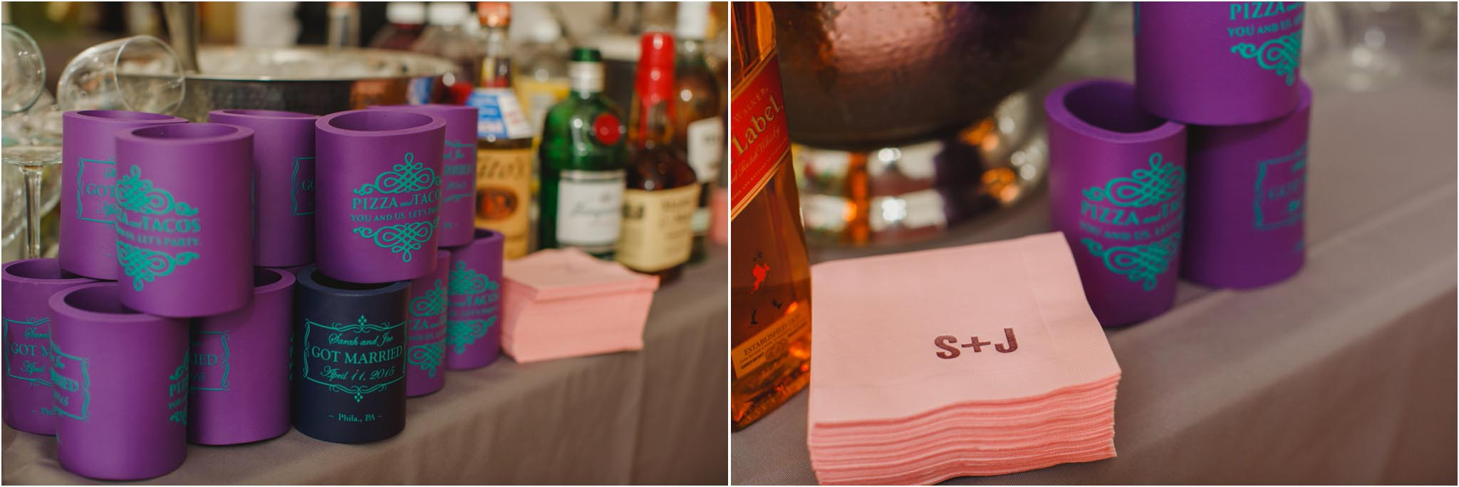 personalized napkins, wedding, Philadelphia