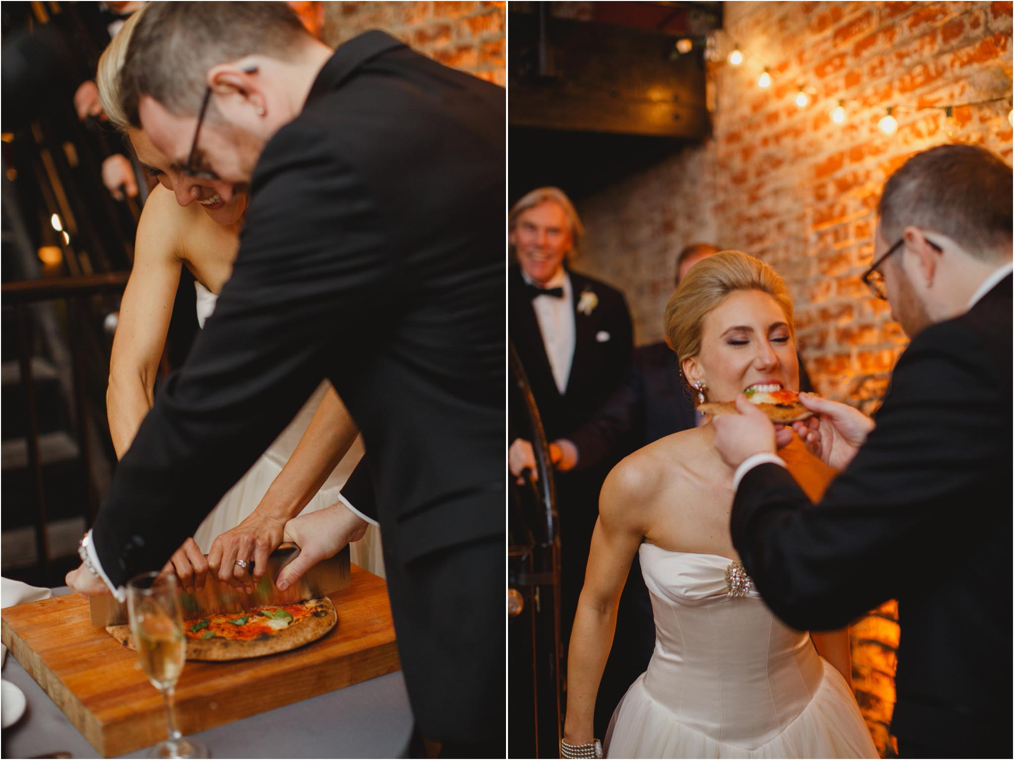 pizza cutting, wedding