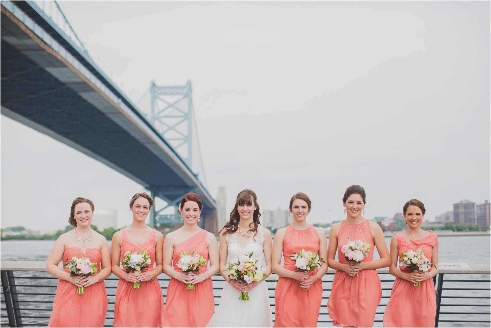 Race SRace Street Pier, bridal partytreet Pier, first look
