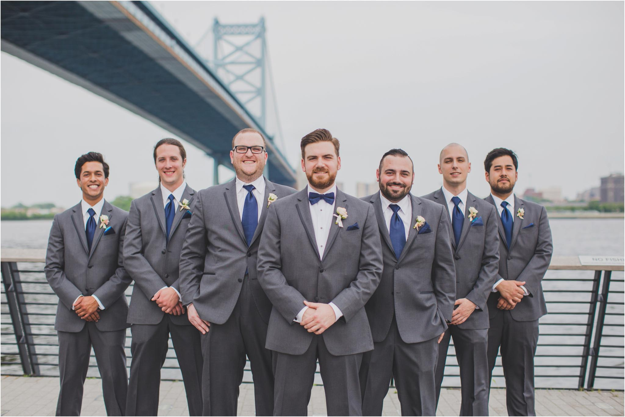 Race Street Pier, bridal party