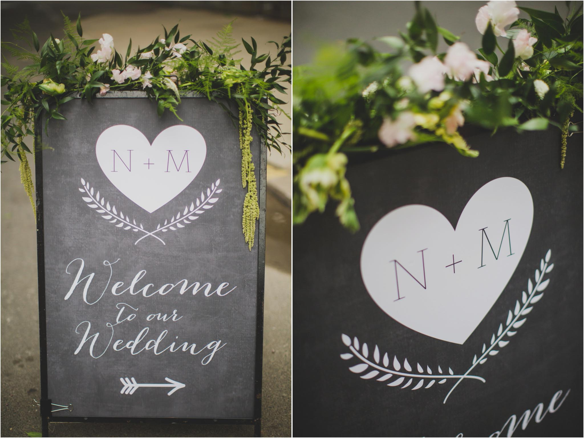 chalk, reception sign