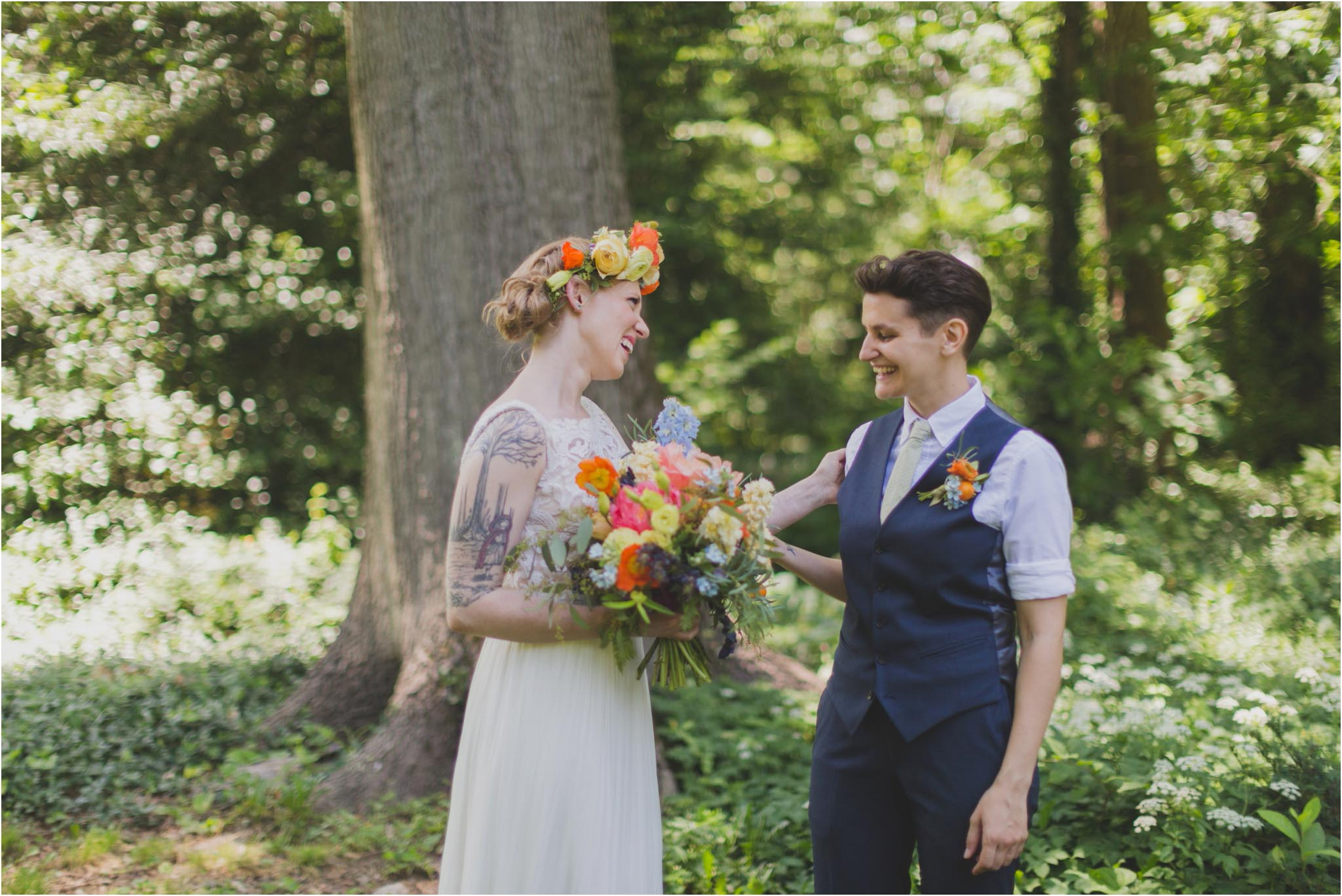 queer wedding, first look
