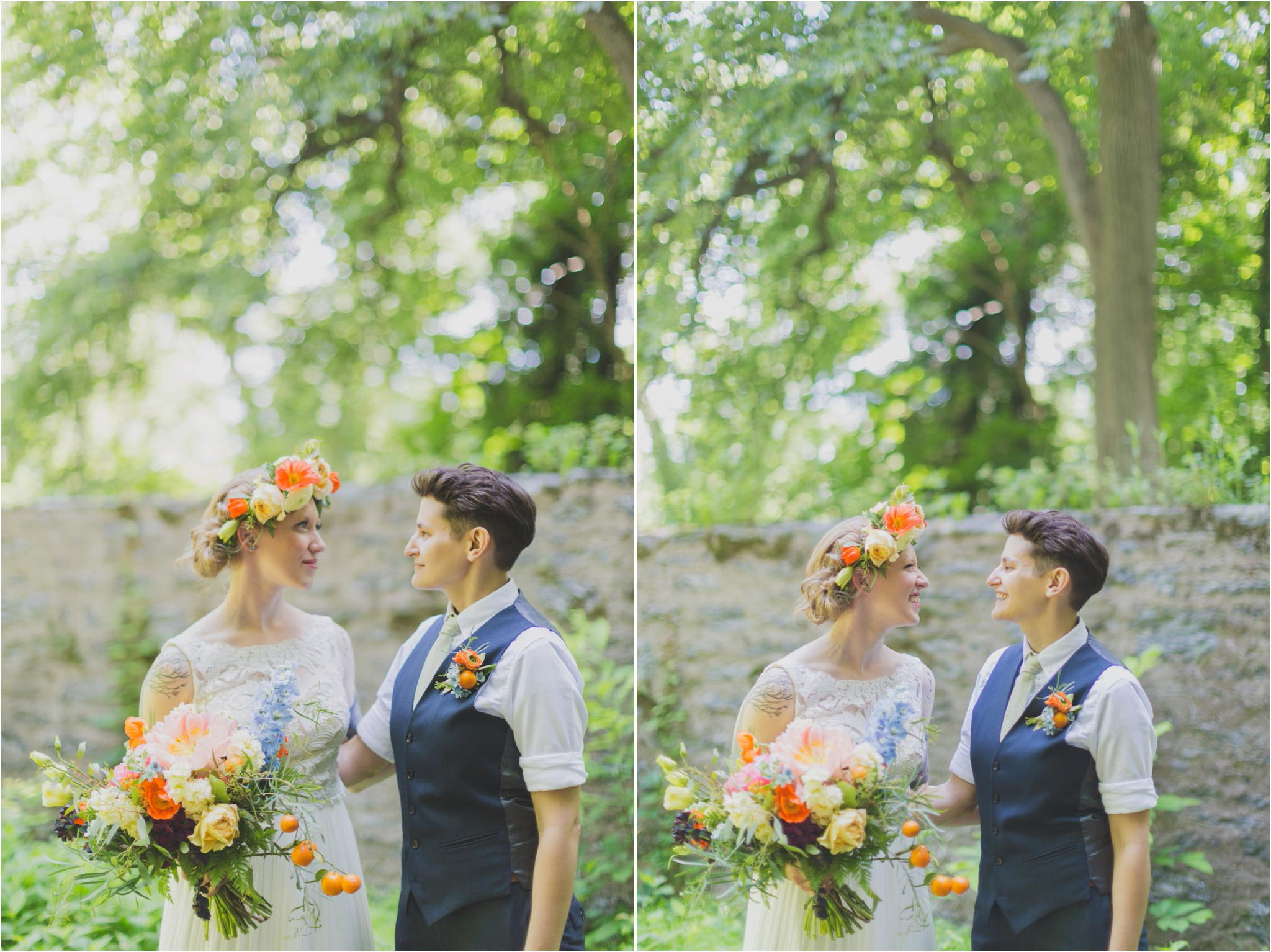 queer wedding, couple portraits