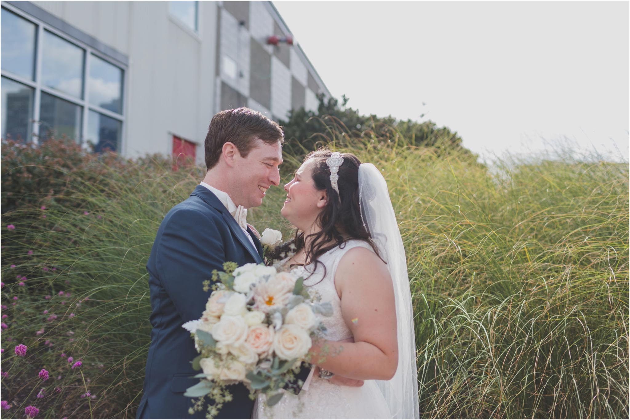 Spruce Street Harbor Park, wedding, first look