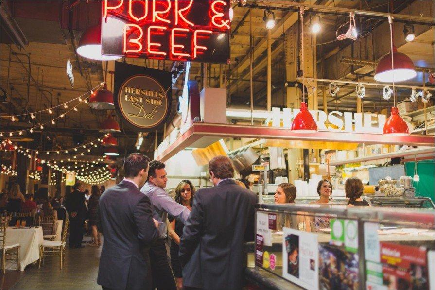 Reading Terminal Market Wedding Reception Philadelphia Shannon
