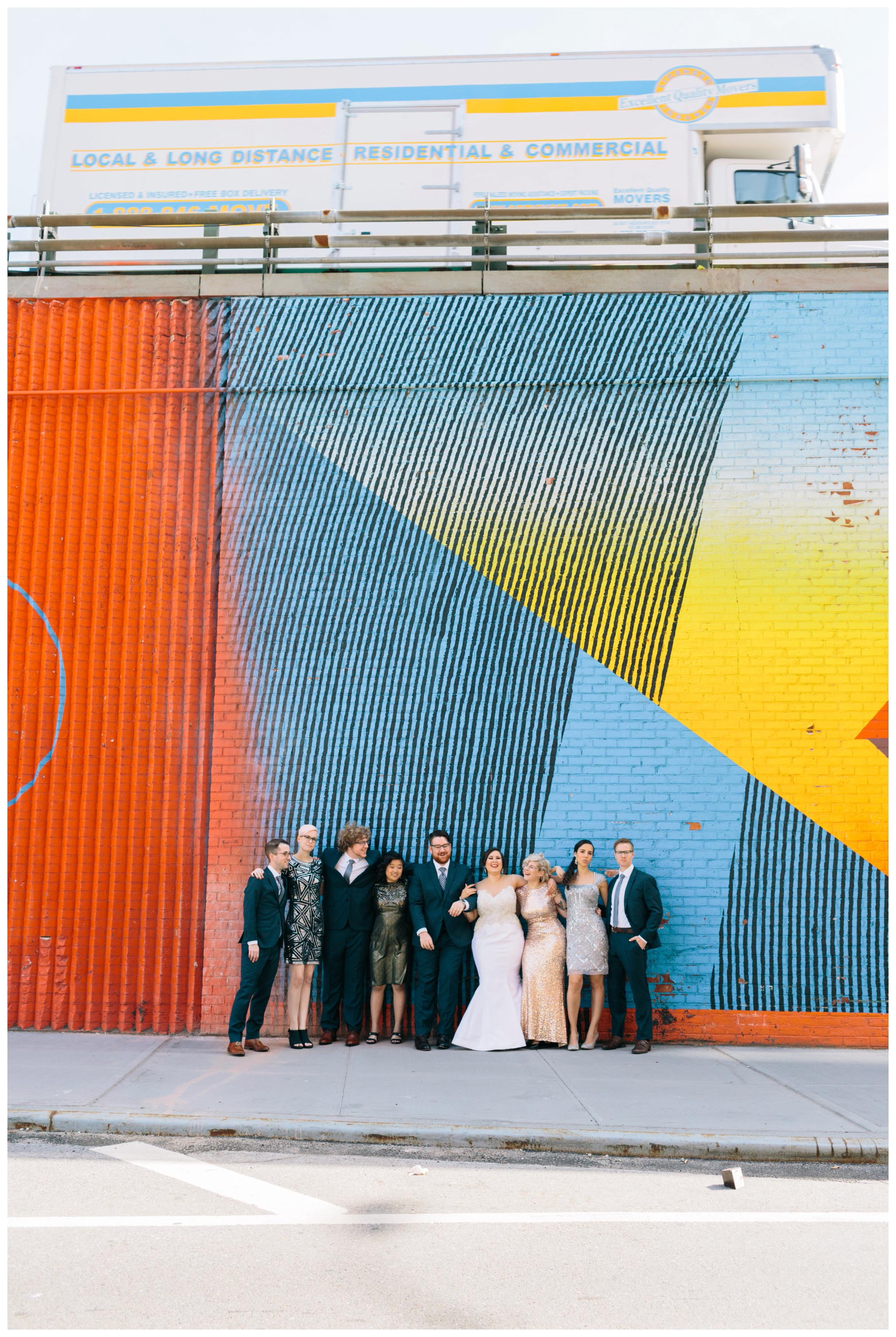 Brooklyn, mural, wedding