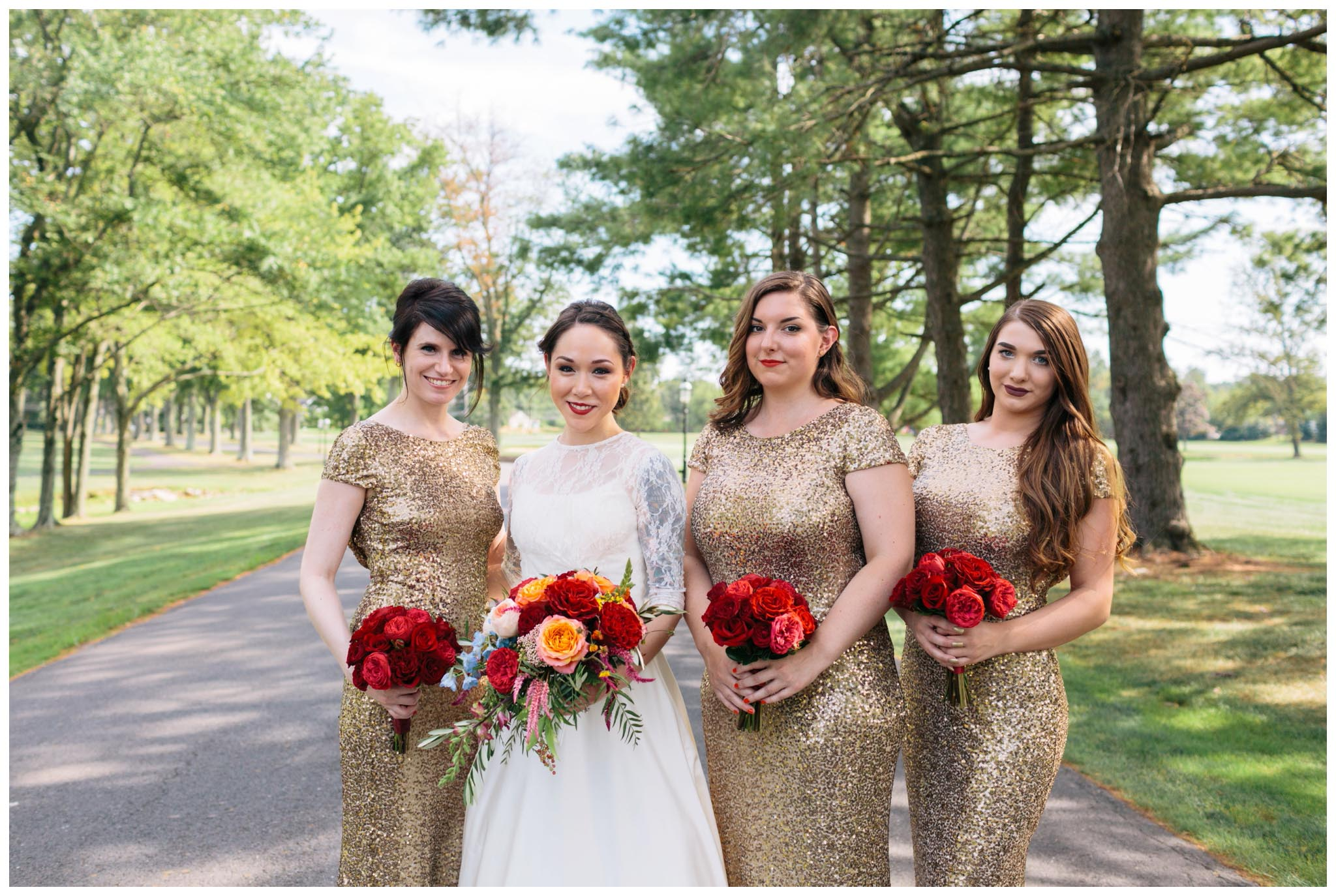 Rent the Runway, bridesmaids, metallic, gold