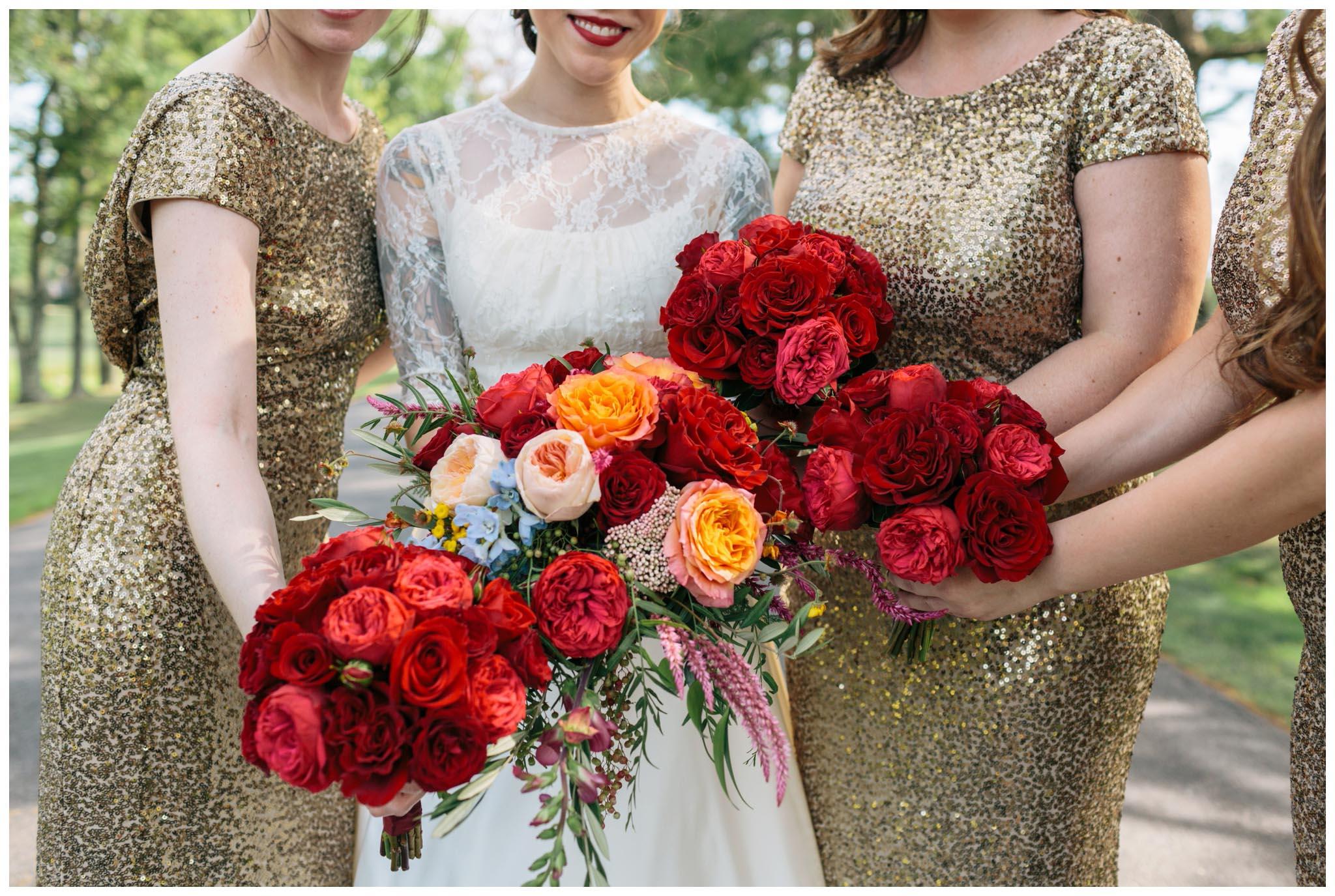 Rent the Runway, bridesmaids, metallic, gold