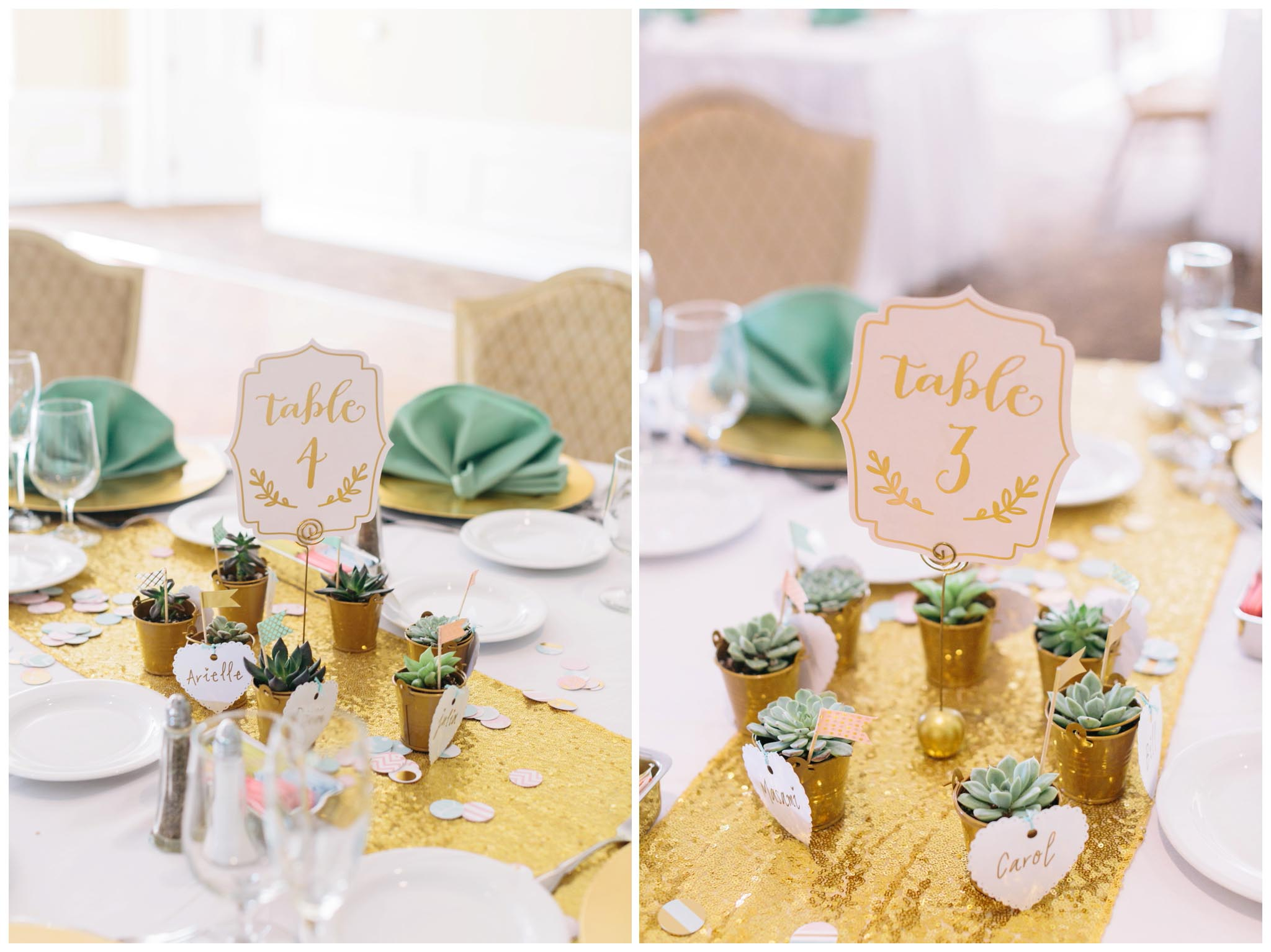 wedding, details, metallic gold