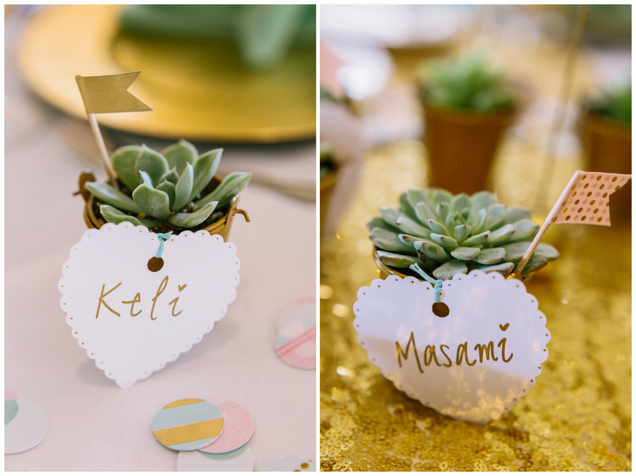 wedding, placecards, succulents