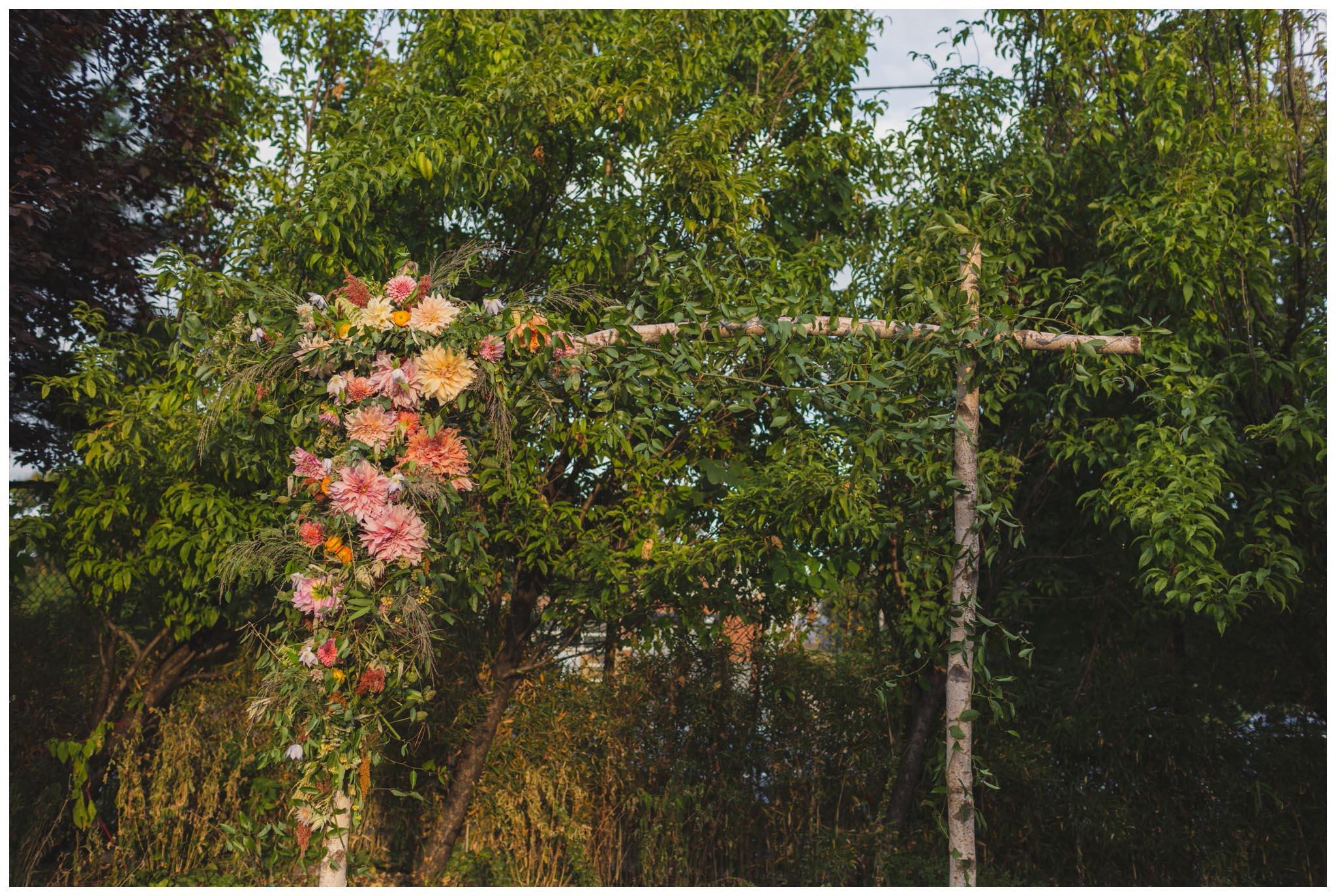 Falls Flowers, arch, wedding