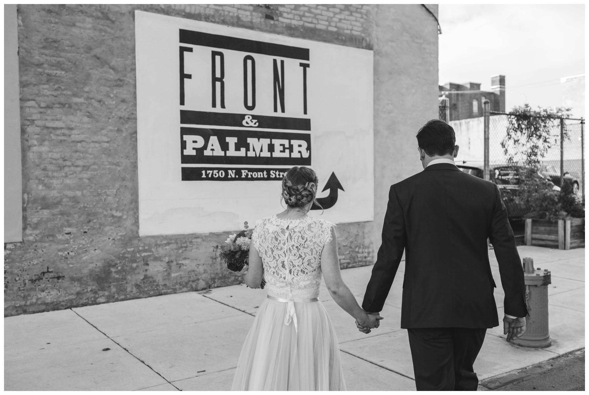 Front and Palmer, wedding