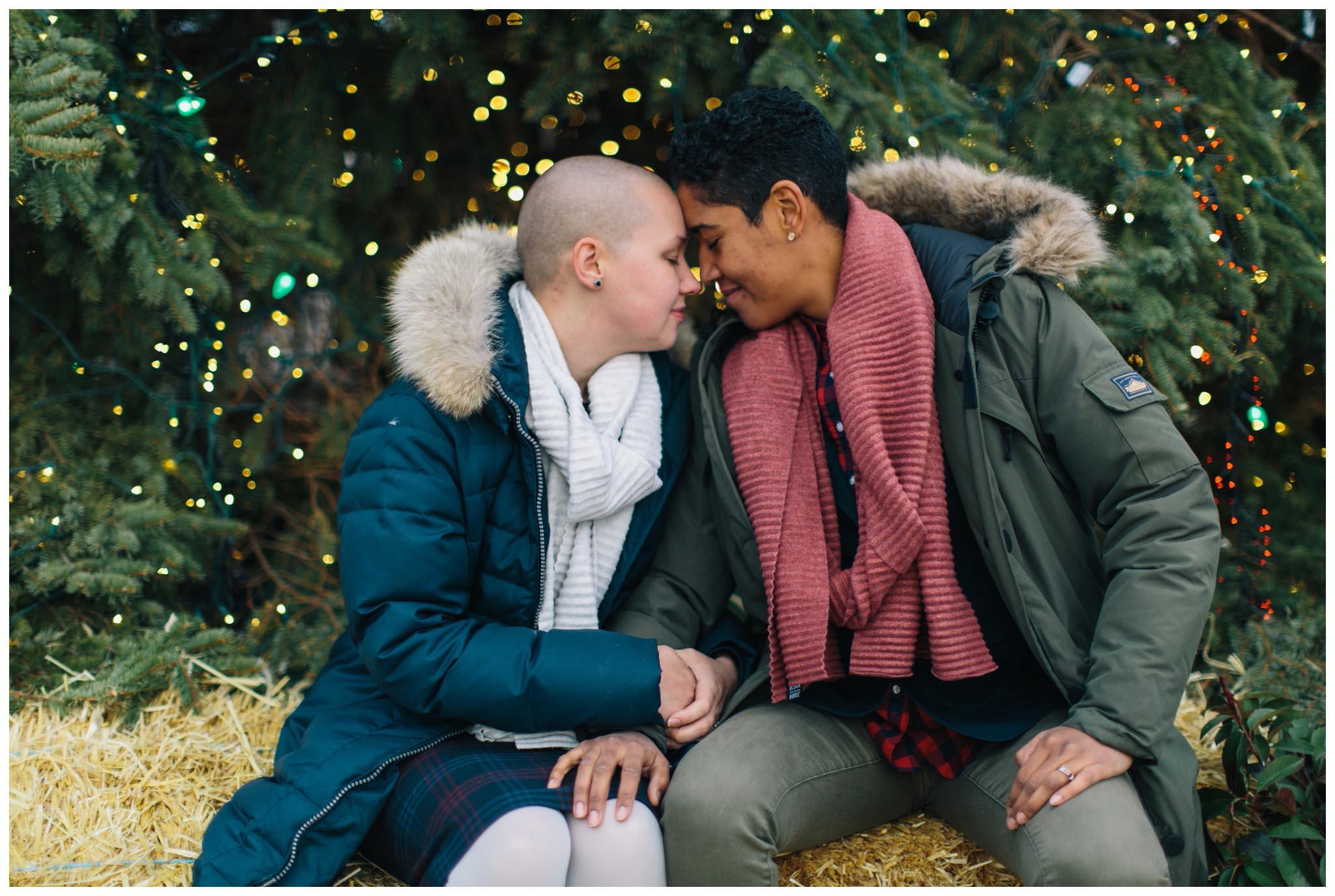 engagement, winterfest, Philadelphia