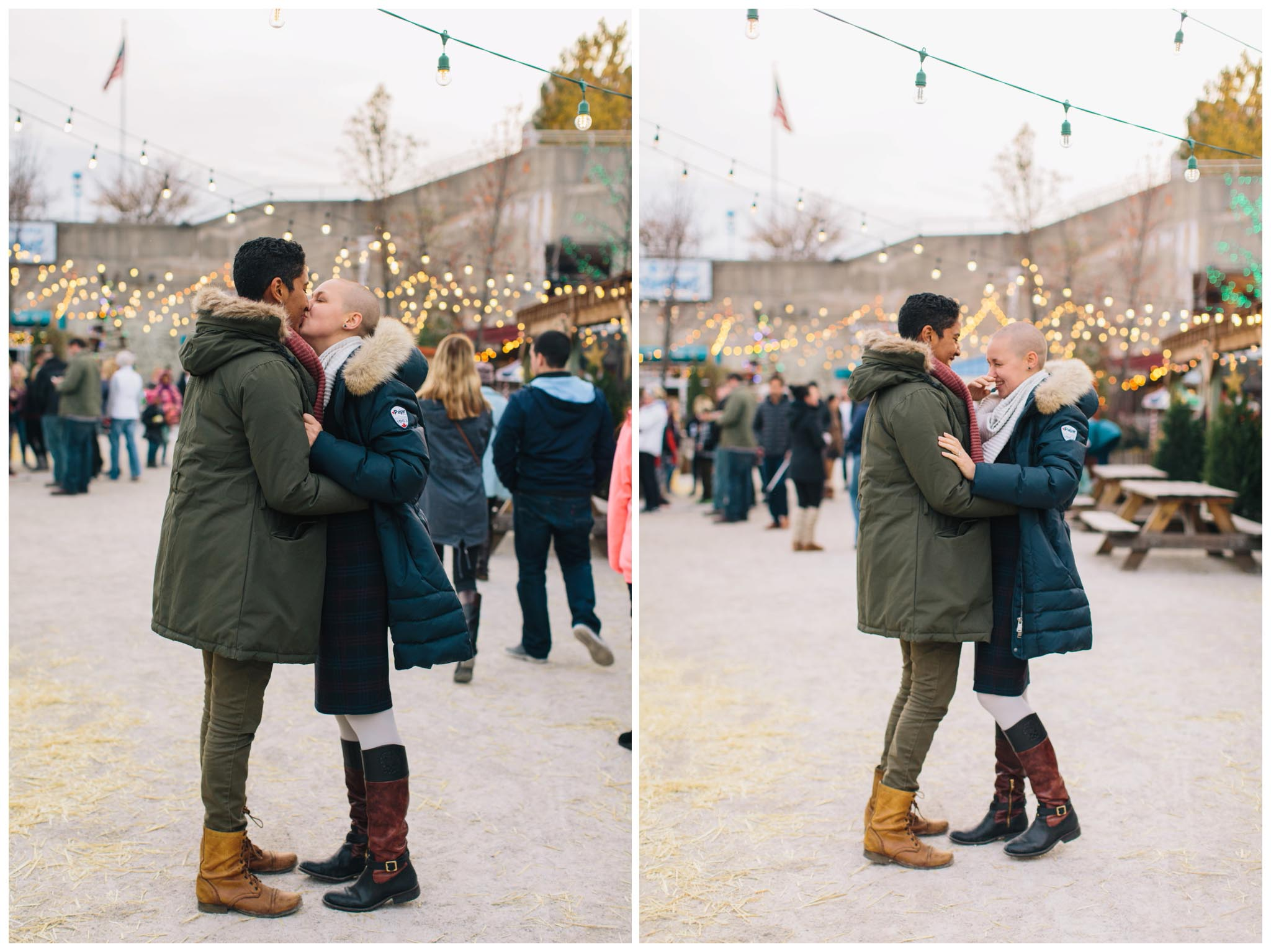 engagement, winterfest, Philadelphia
