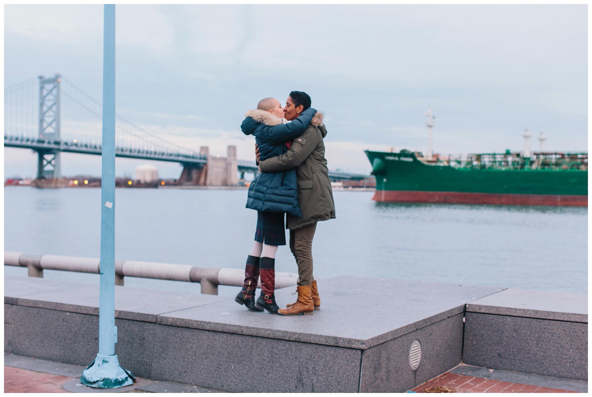engagement, Penn's Landing, Philadelphia