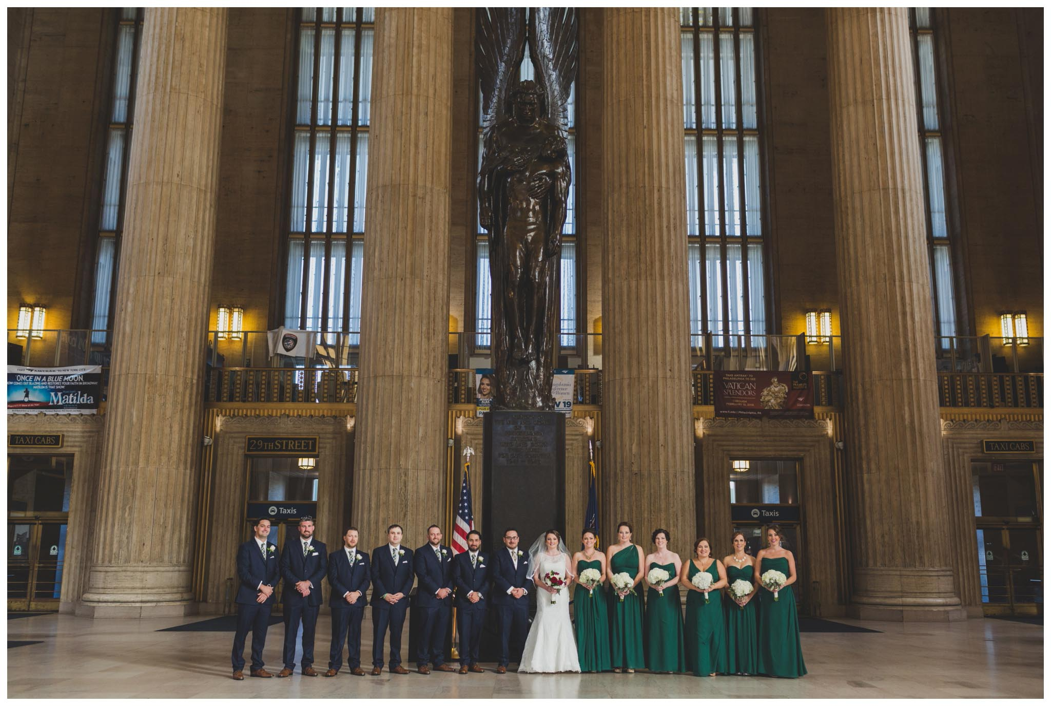 30th Street Station, wedding, Philadelphia