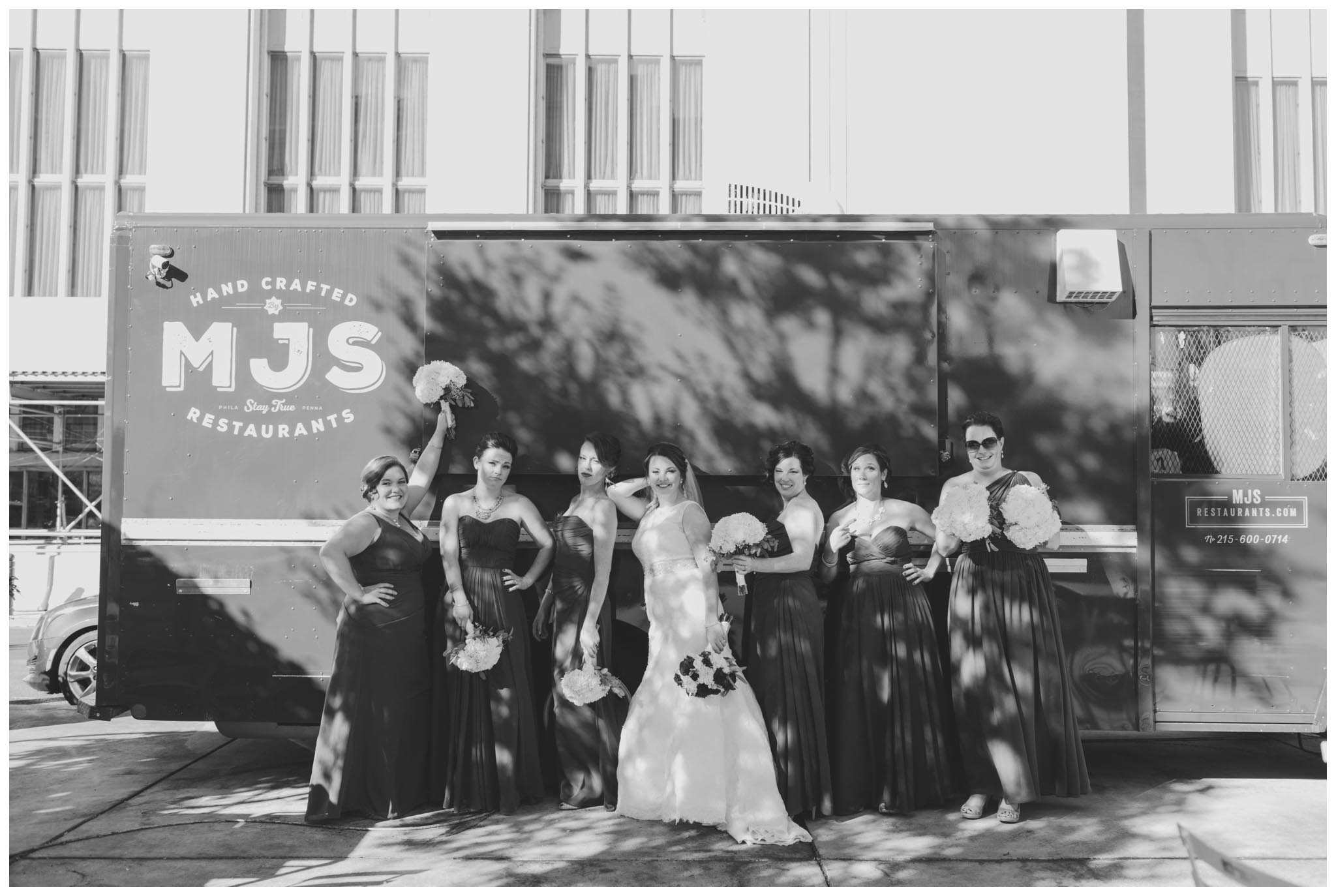 food truck, bridesmaids, Philadelphia