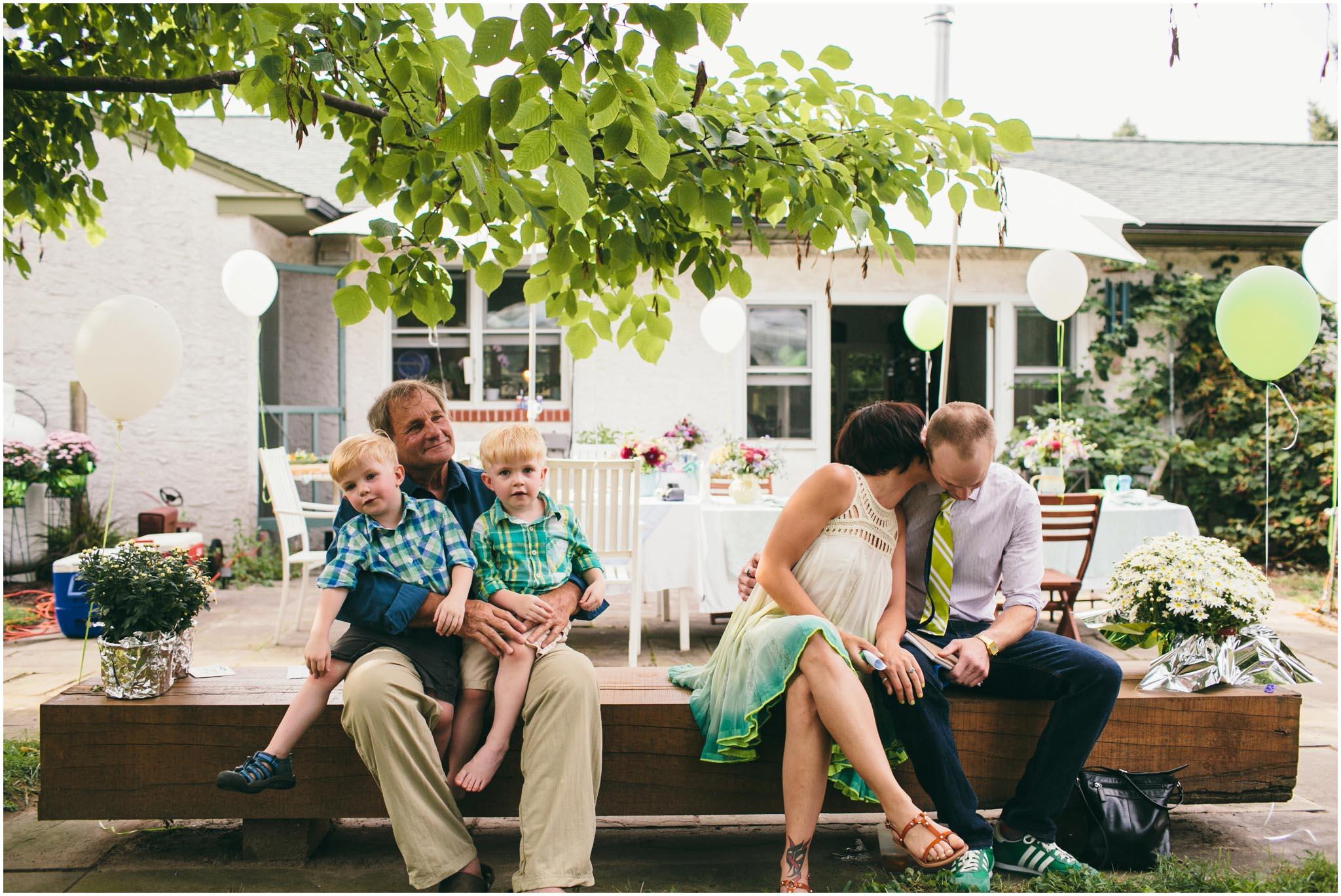 backyard wedding, home, Philadelphia