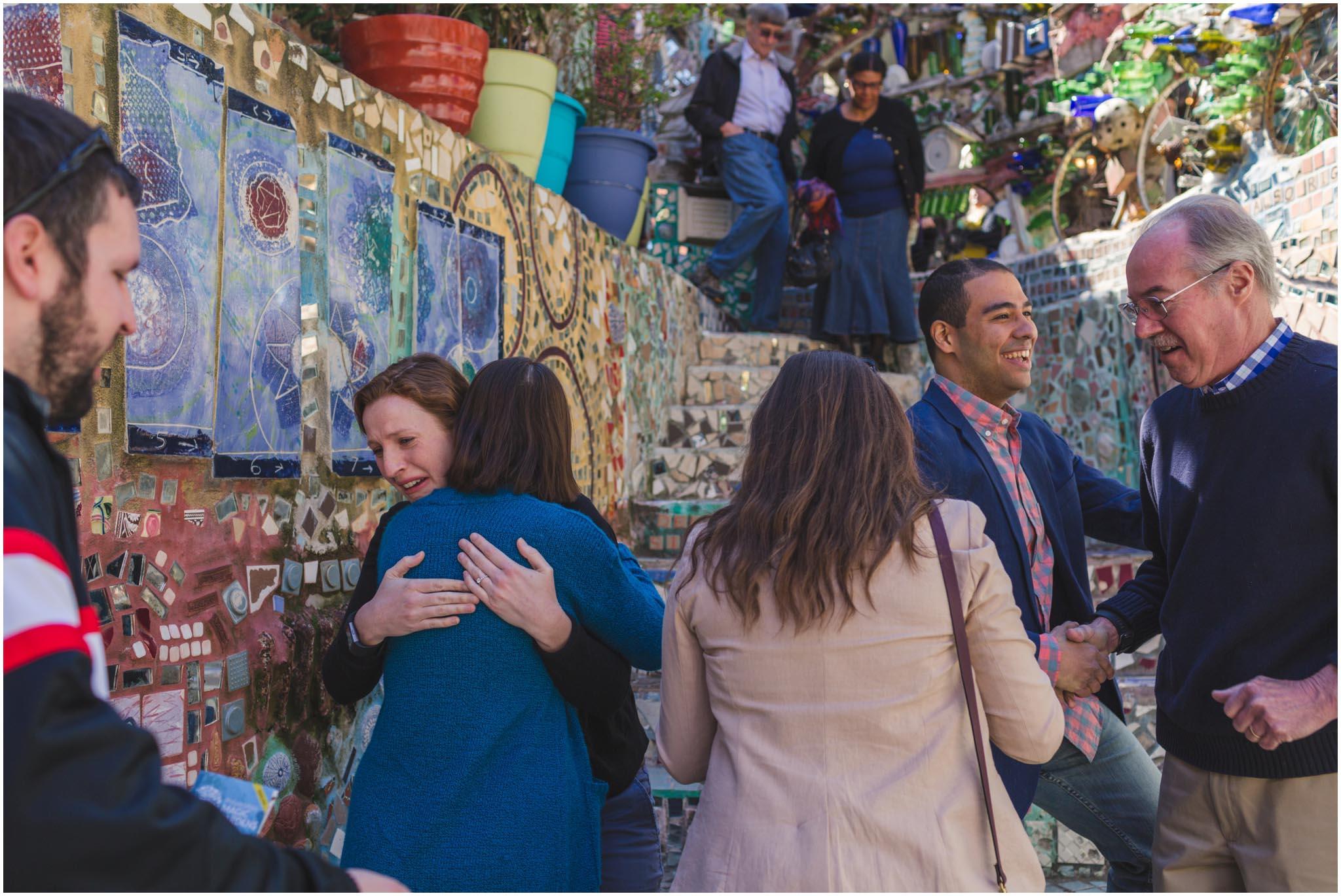 Philadelphia's Magic Gardens, proposal, engagement