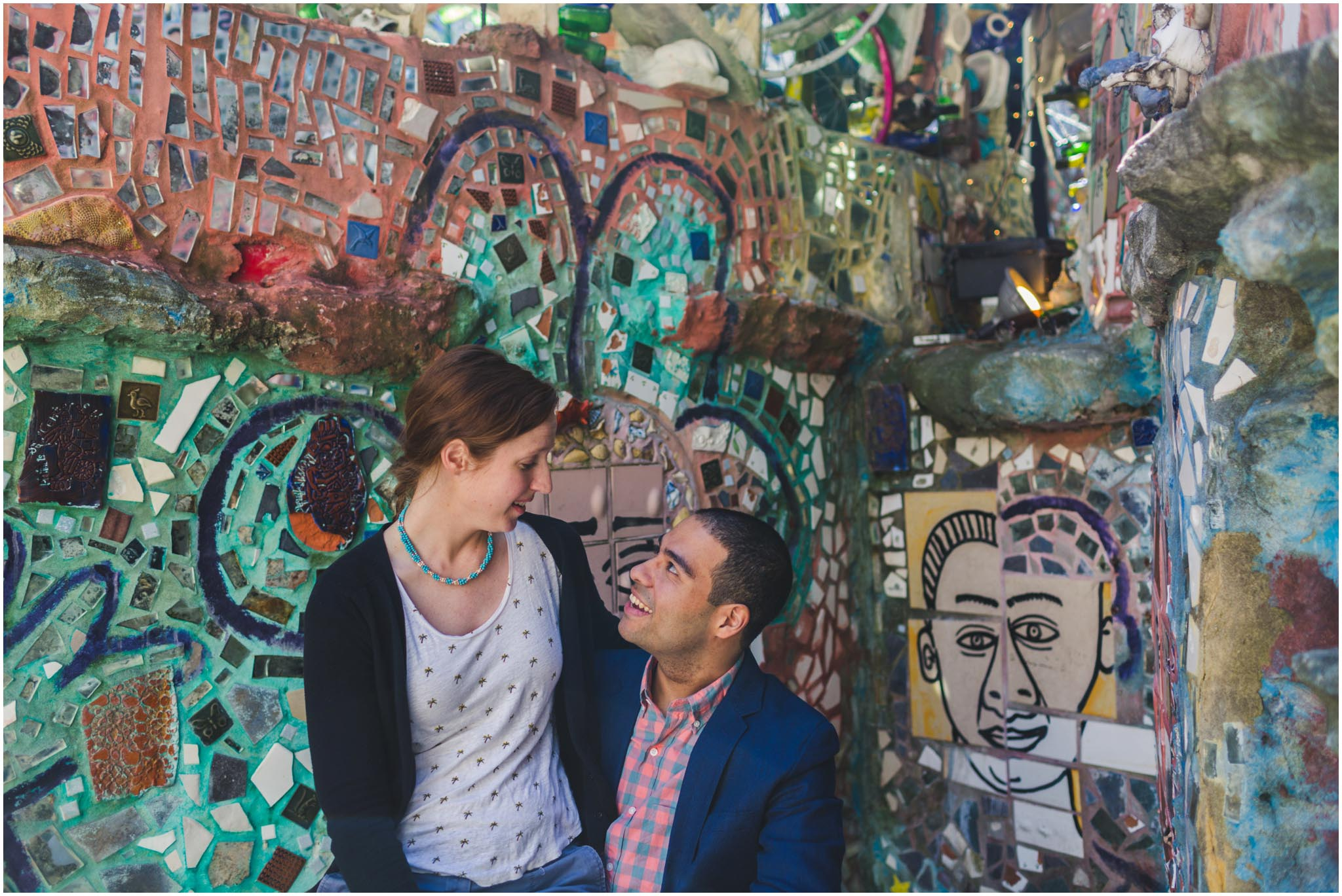 Philadelphia's Magic Gardens, engagement, wedding