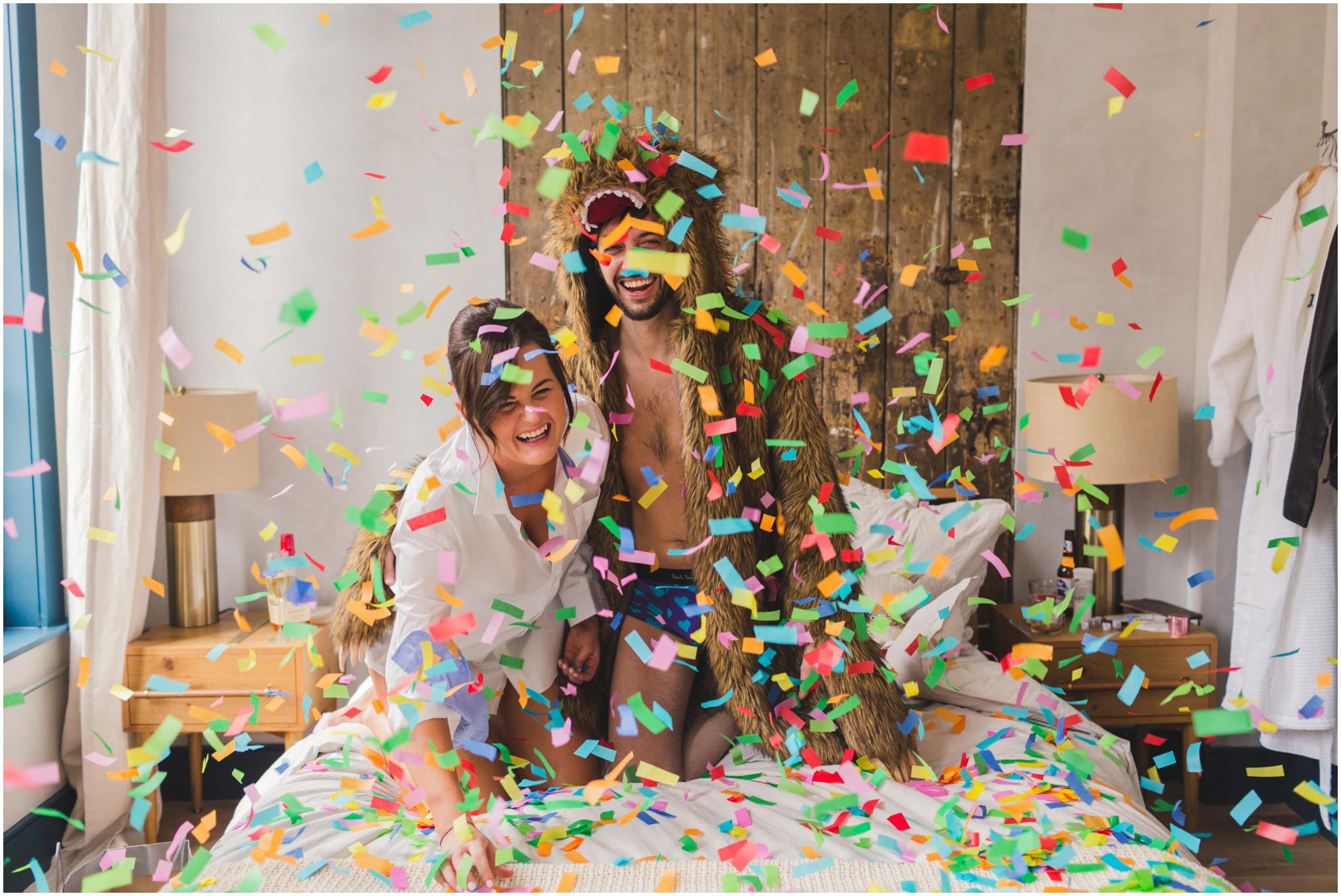 Lokal Hotel, engagement, confetti