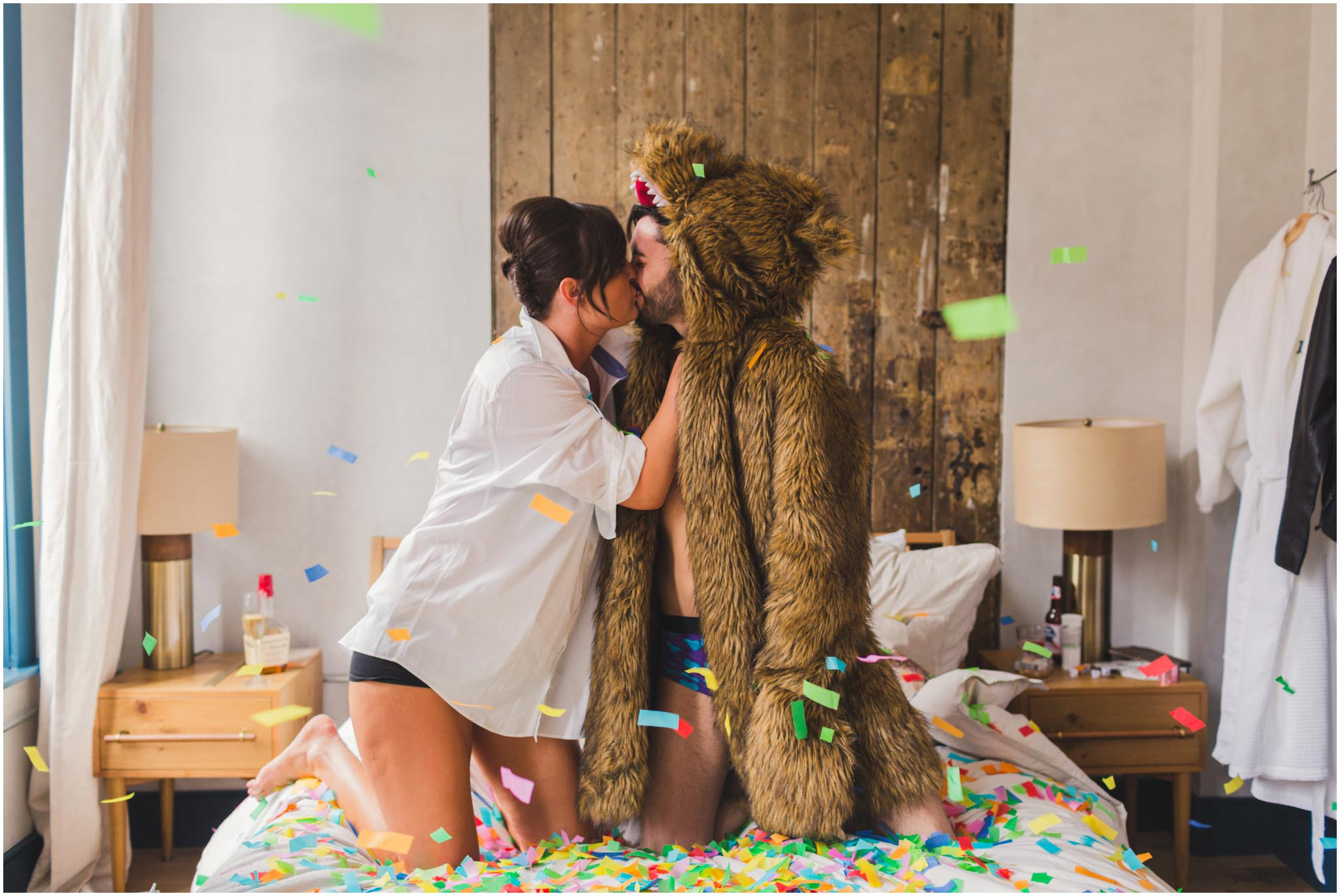 workaholics, bear coat, confetti