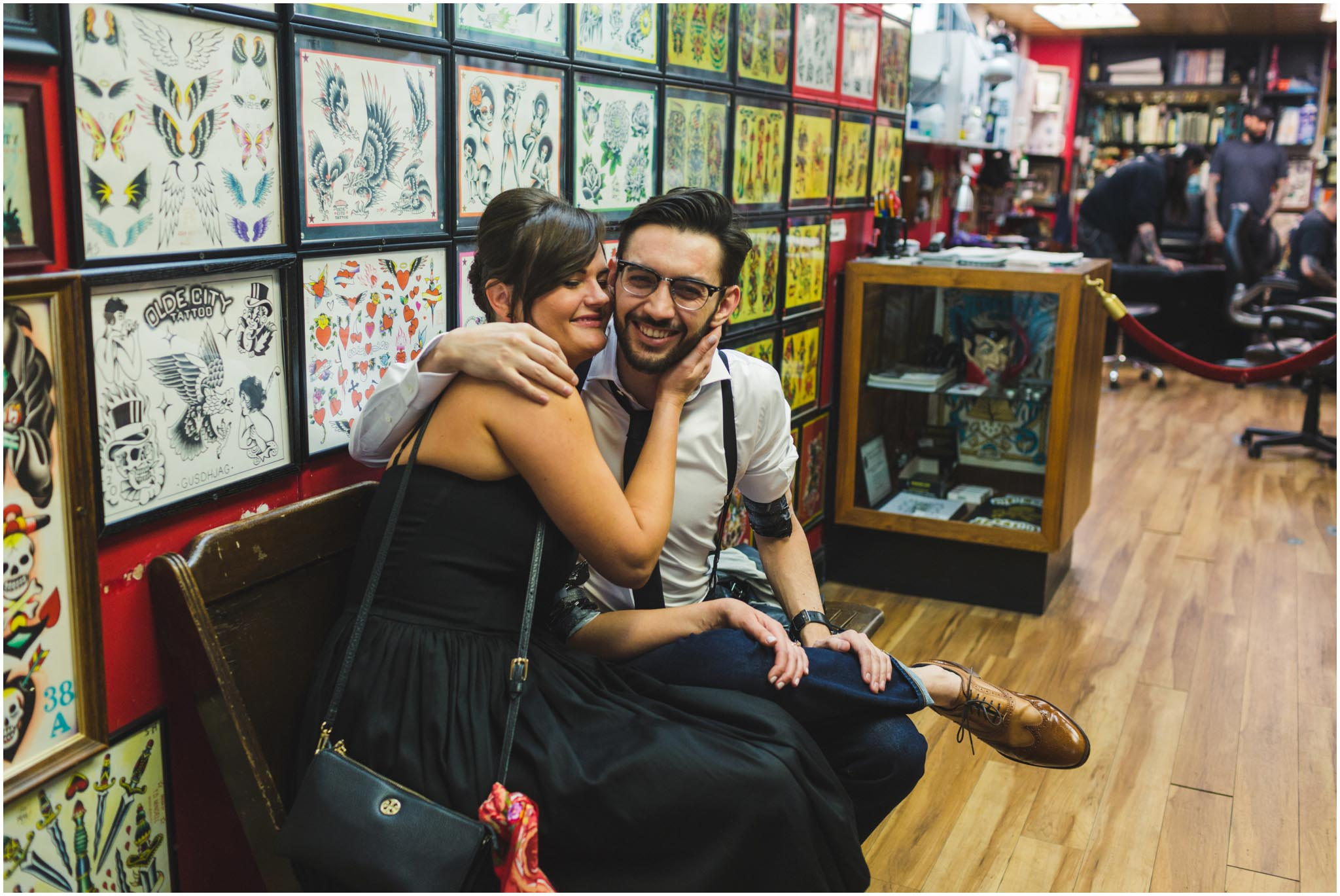 Olde City Tattoo, engagement, matching tattoos