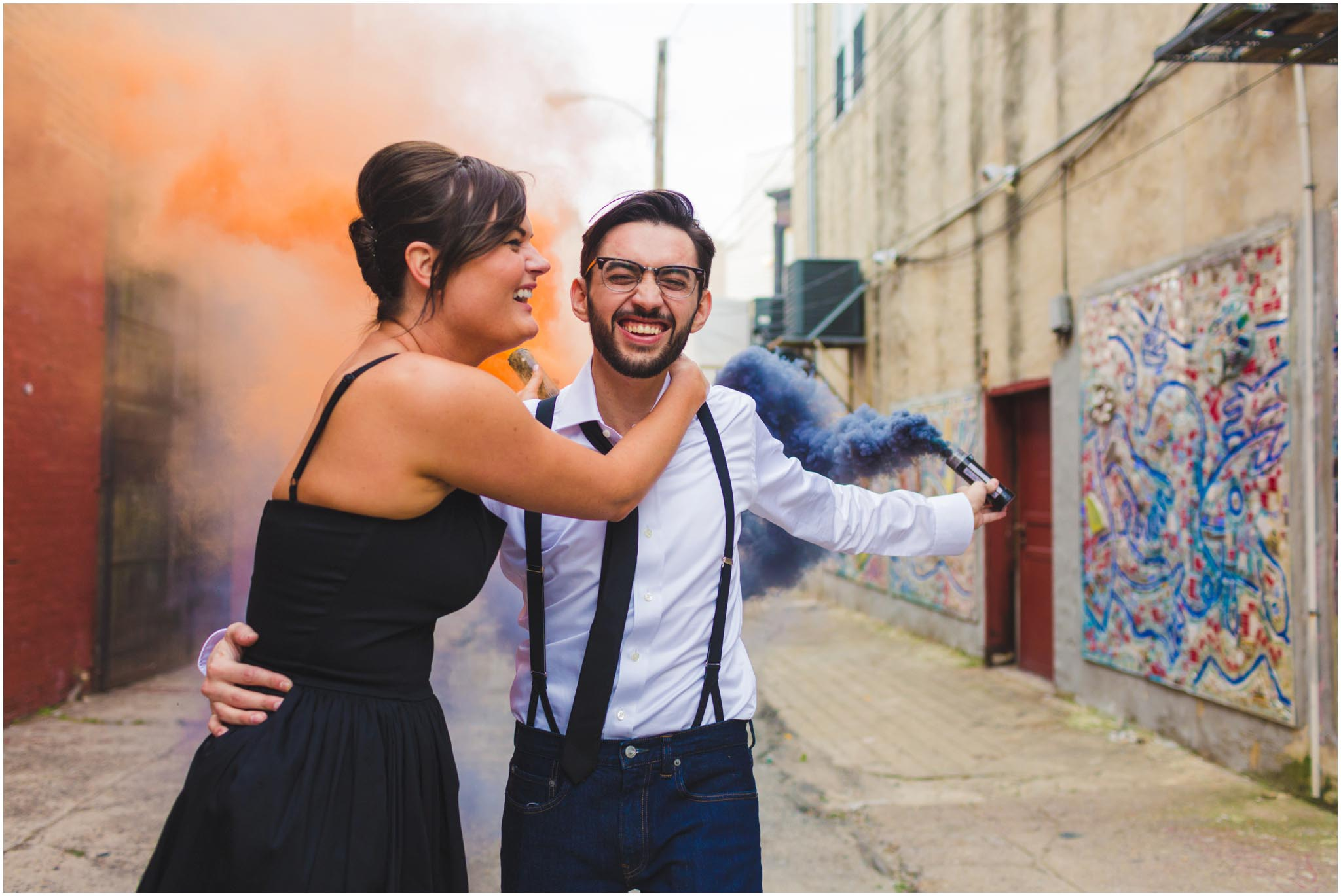 smoke bomb, engagement, smoke grenade, colorful