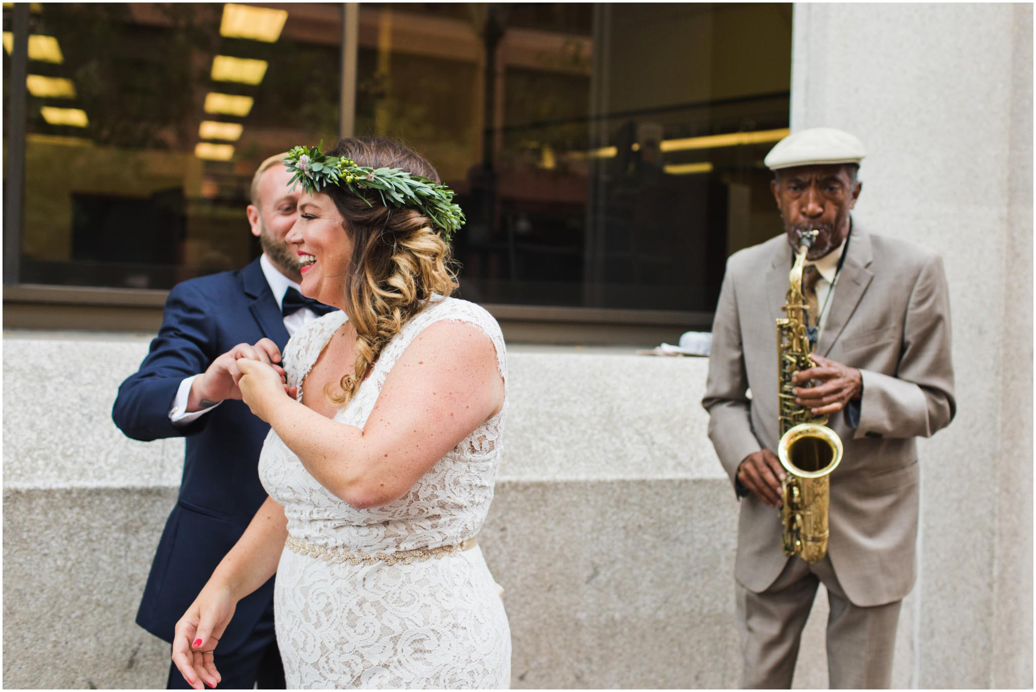 Philadelphia, street musician, wedding