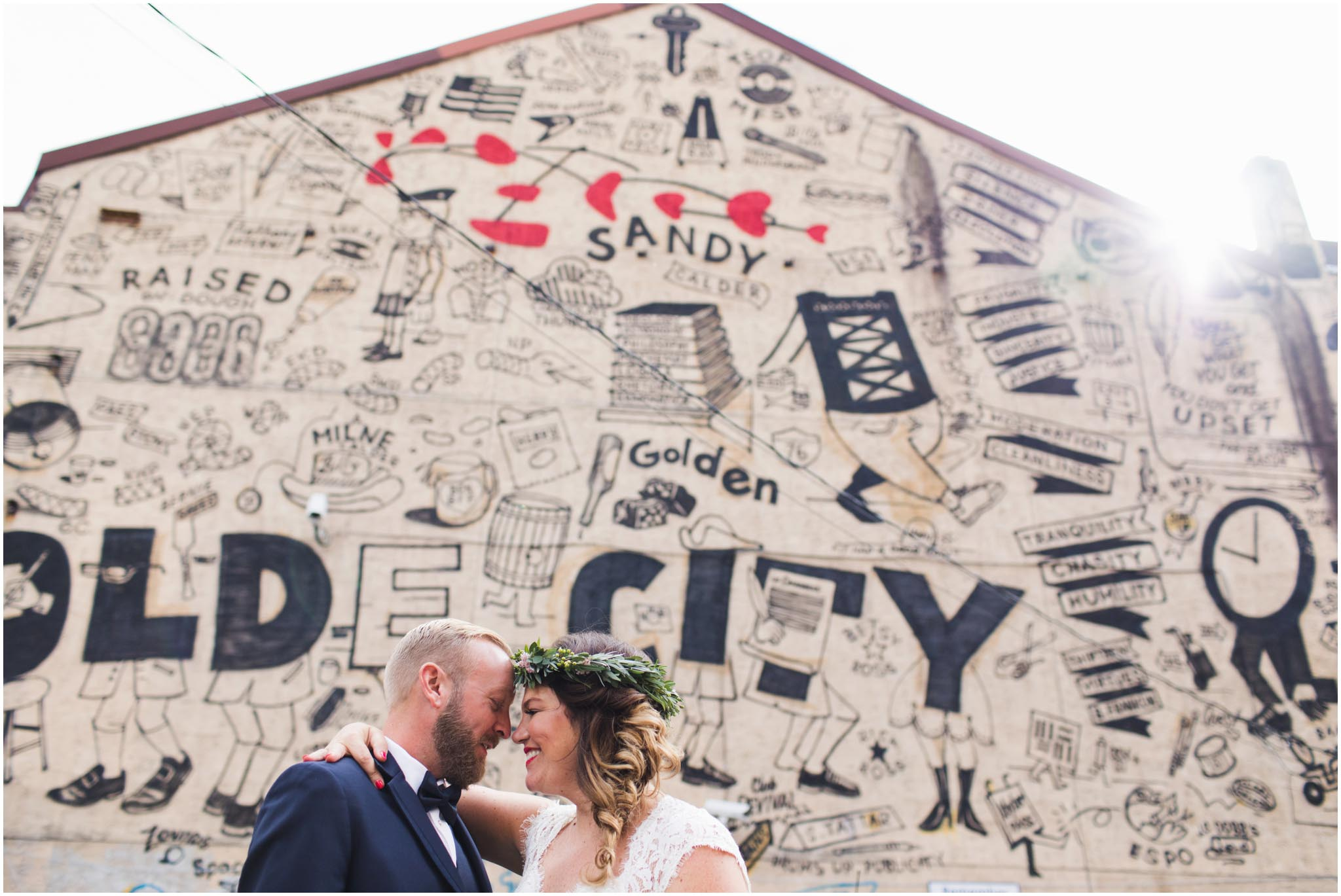 Olde City Tattoo, mural, Steve Powers, wedding