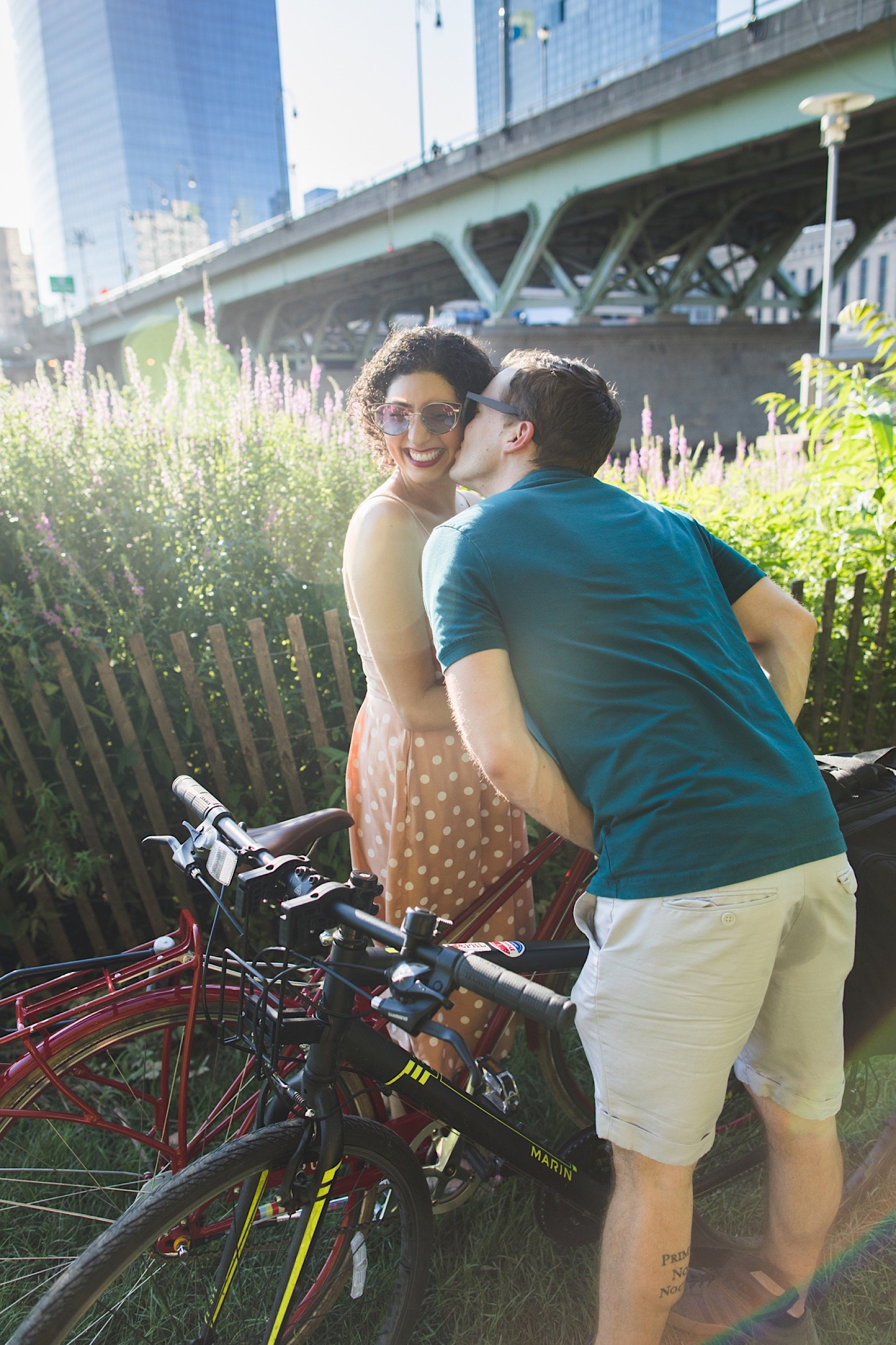 bike, engagement, Philadelphia, trail