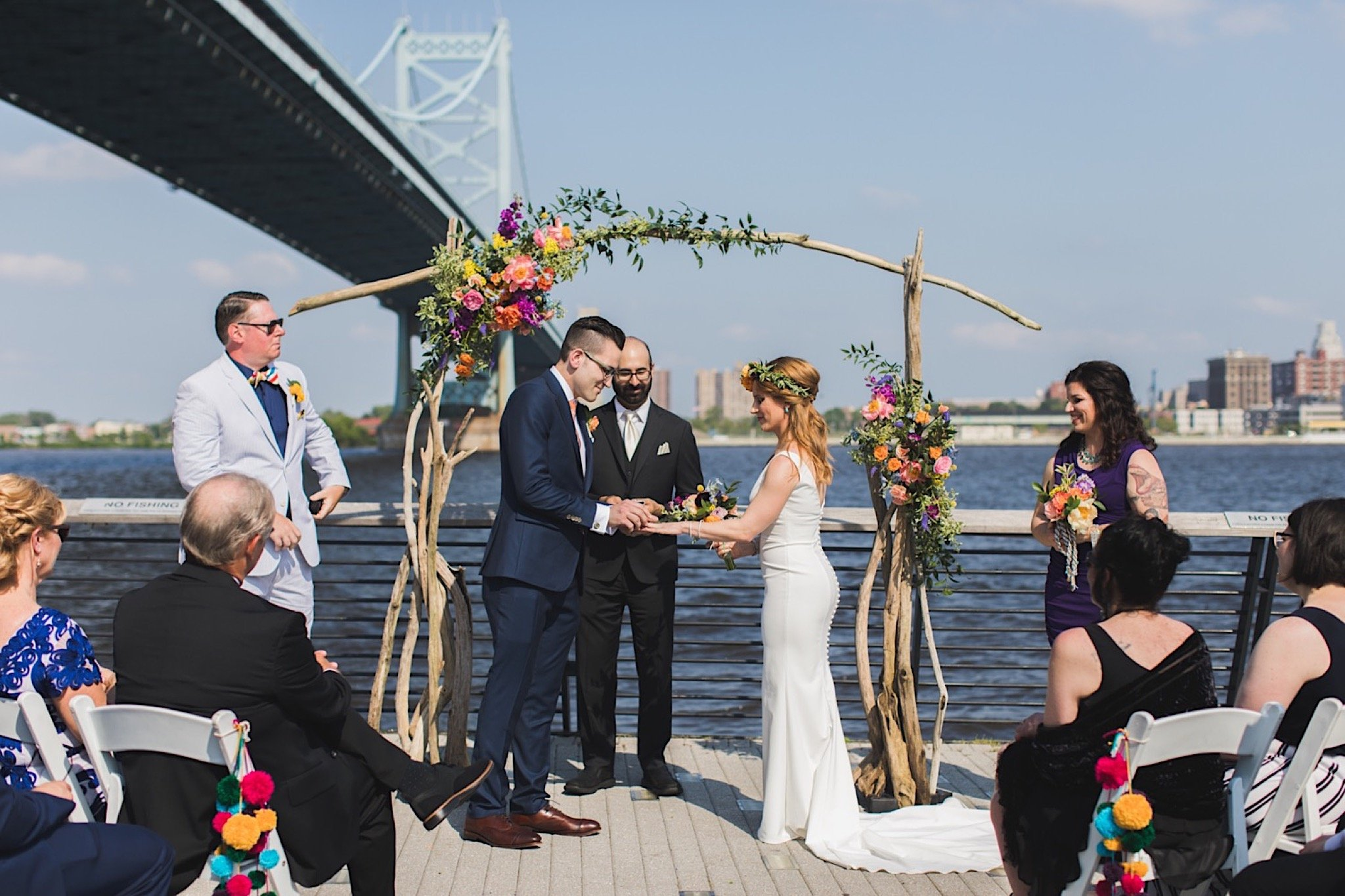 Race Street Pier, wedding