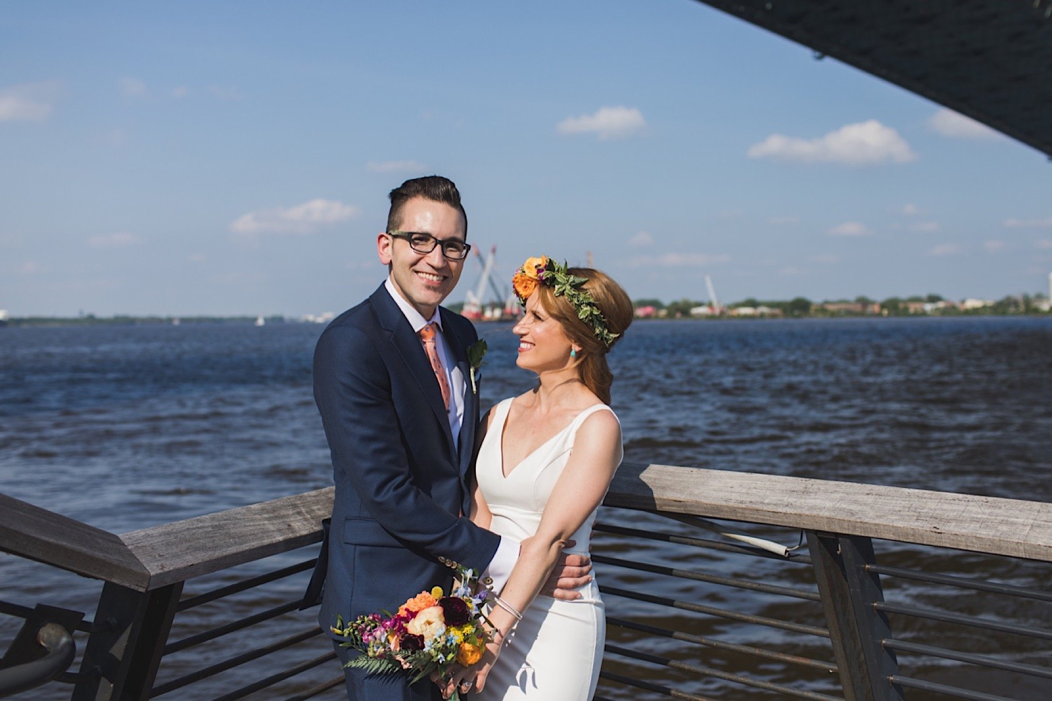 wedding, photography, Race Street Pier