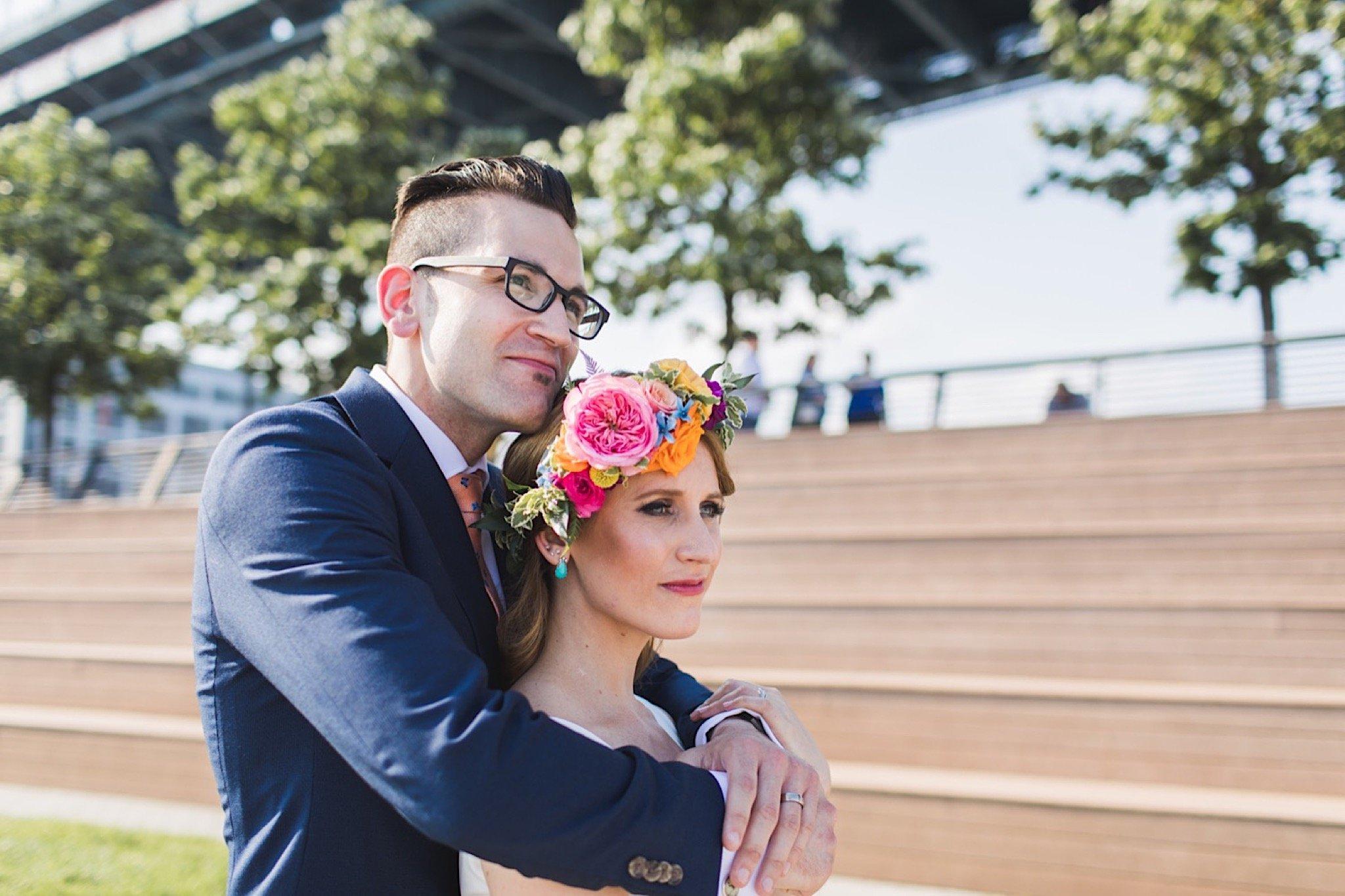 wedding, photography, Race Street Pier