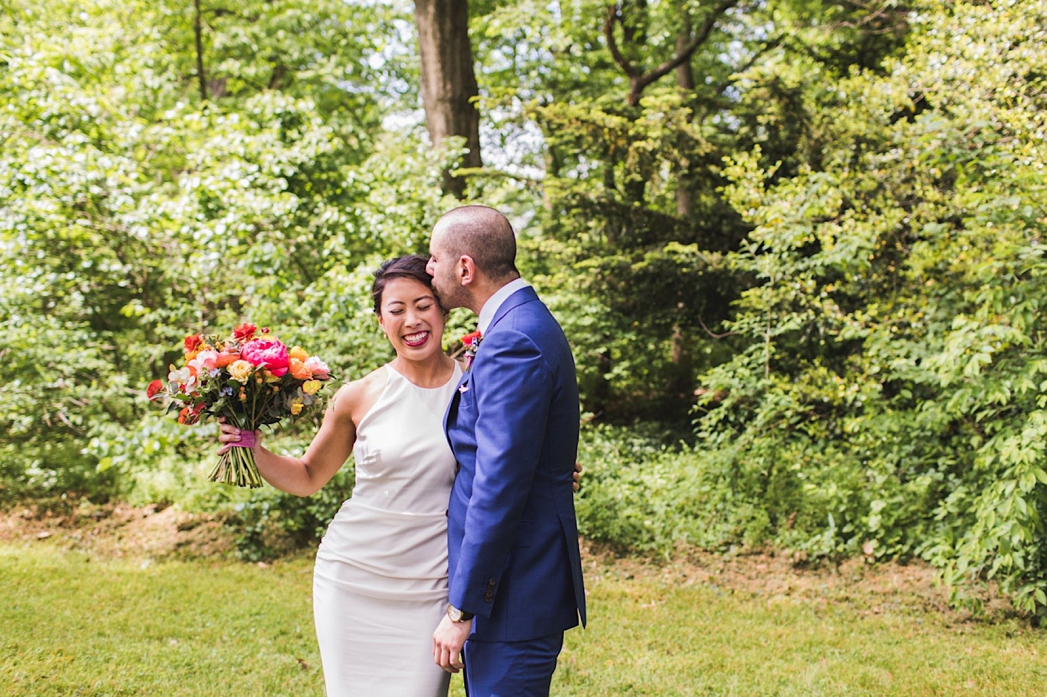 first look, Awbury Arboretum, wedding