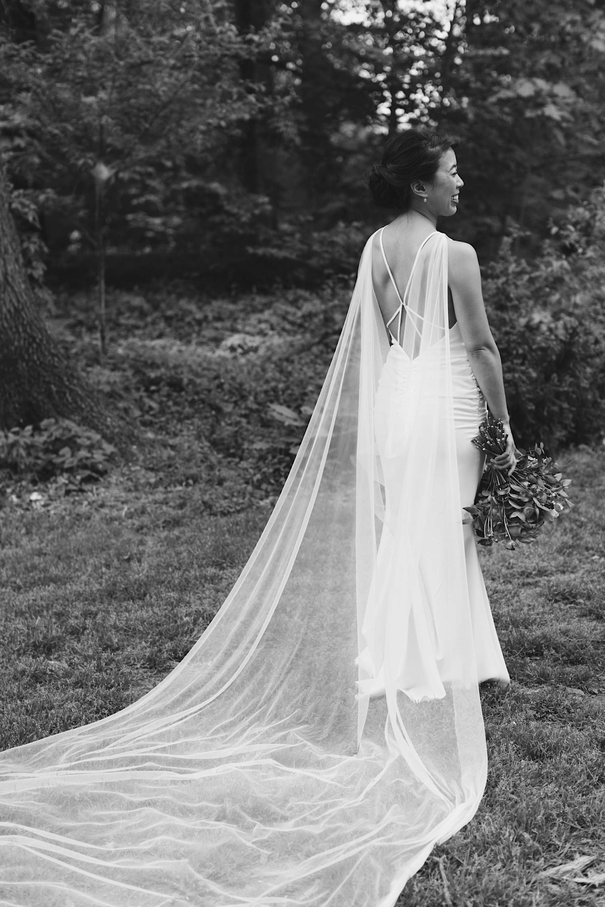 bride, wedding, Philadelphia, cape, gown