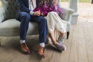 tinsel jacket, Rachel Burke, wedding