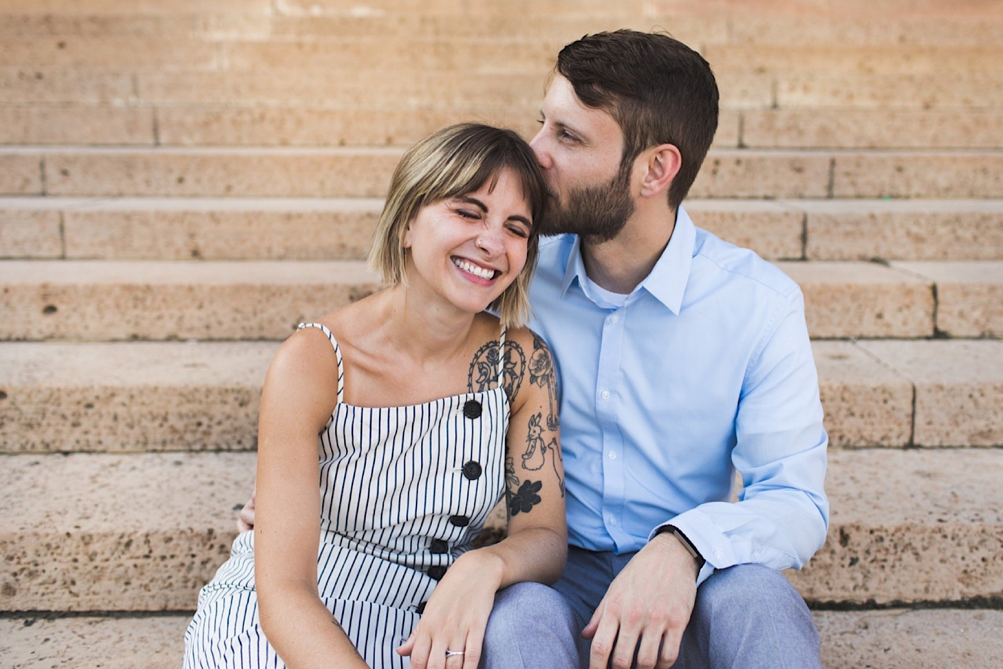 Philadelphia Museum of Art, engagement photos