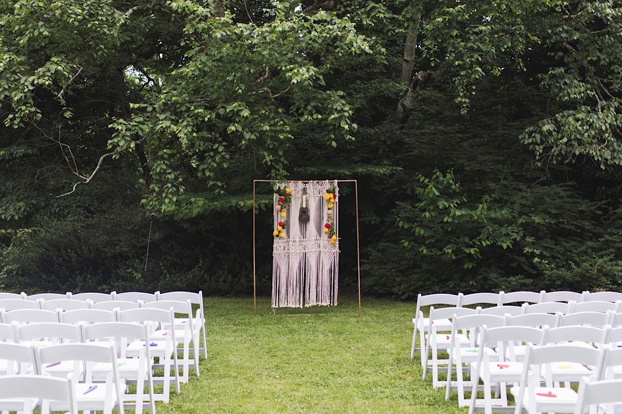 macrame, Philadelphia, wedding