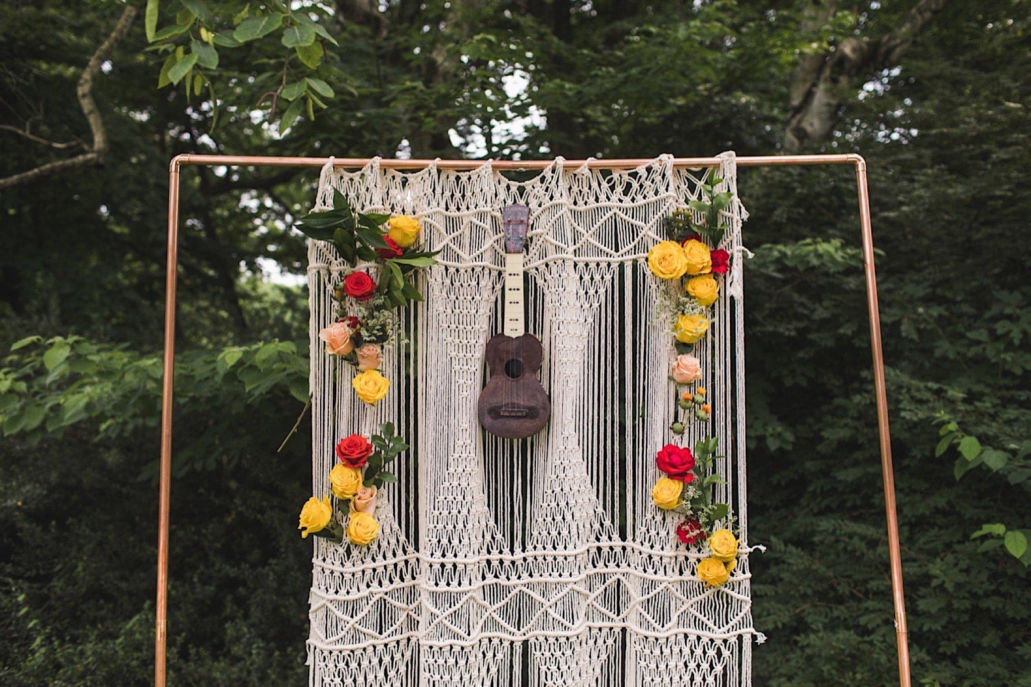 macrame, backdrop, Philadelphia, wedding