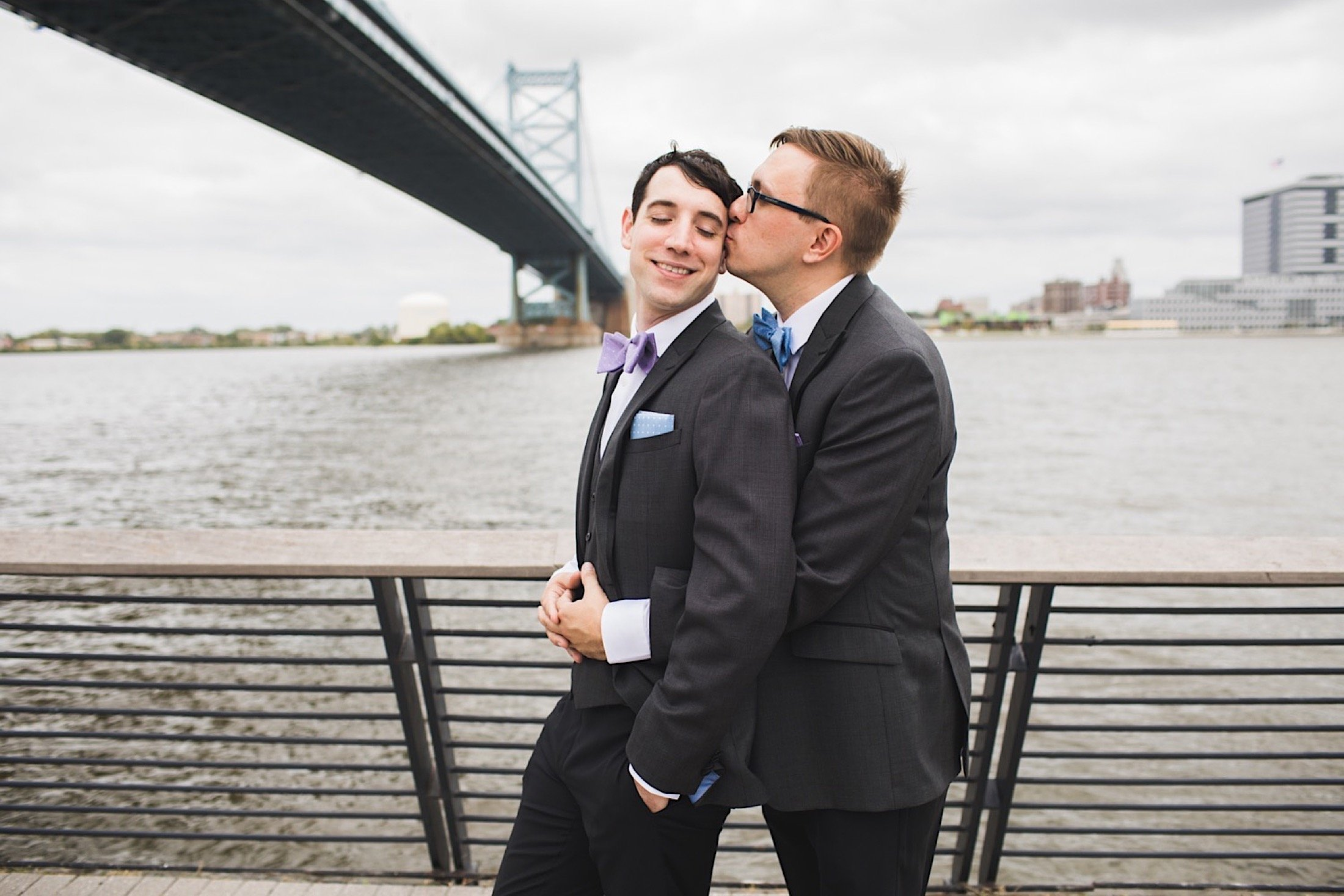 Race Street Pier wedding, photography