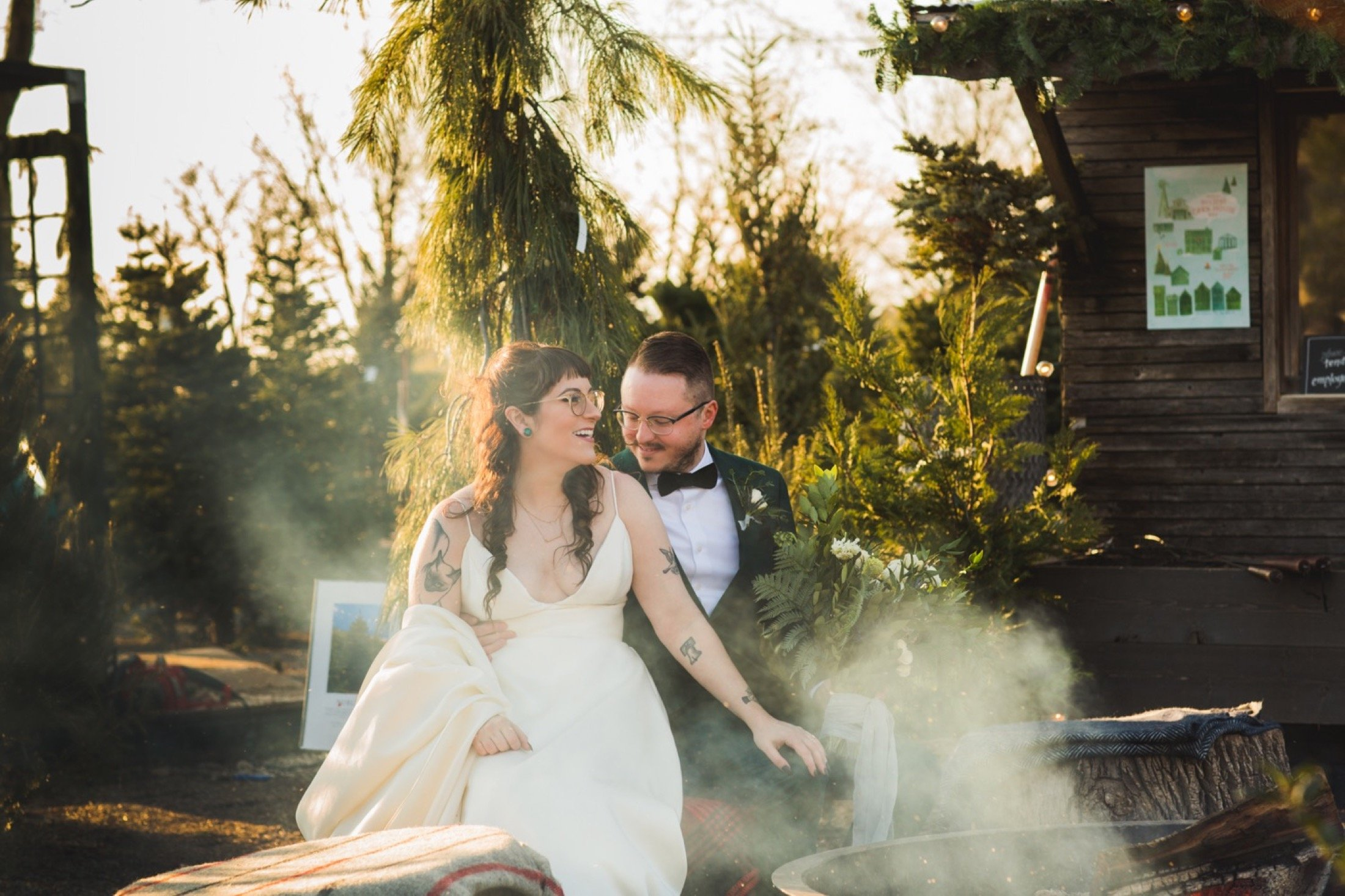 Terrain, wedding, fire pit