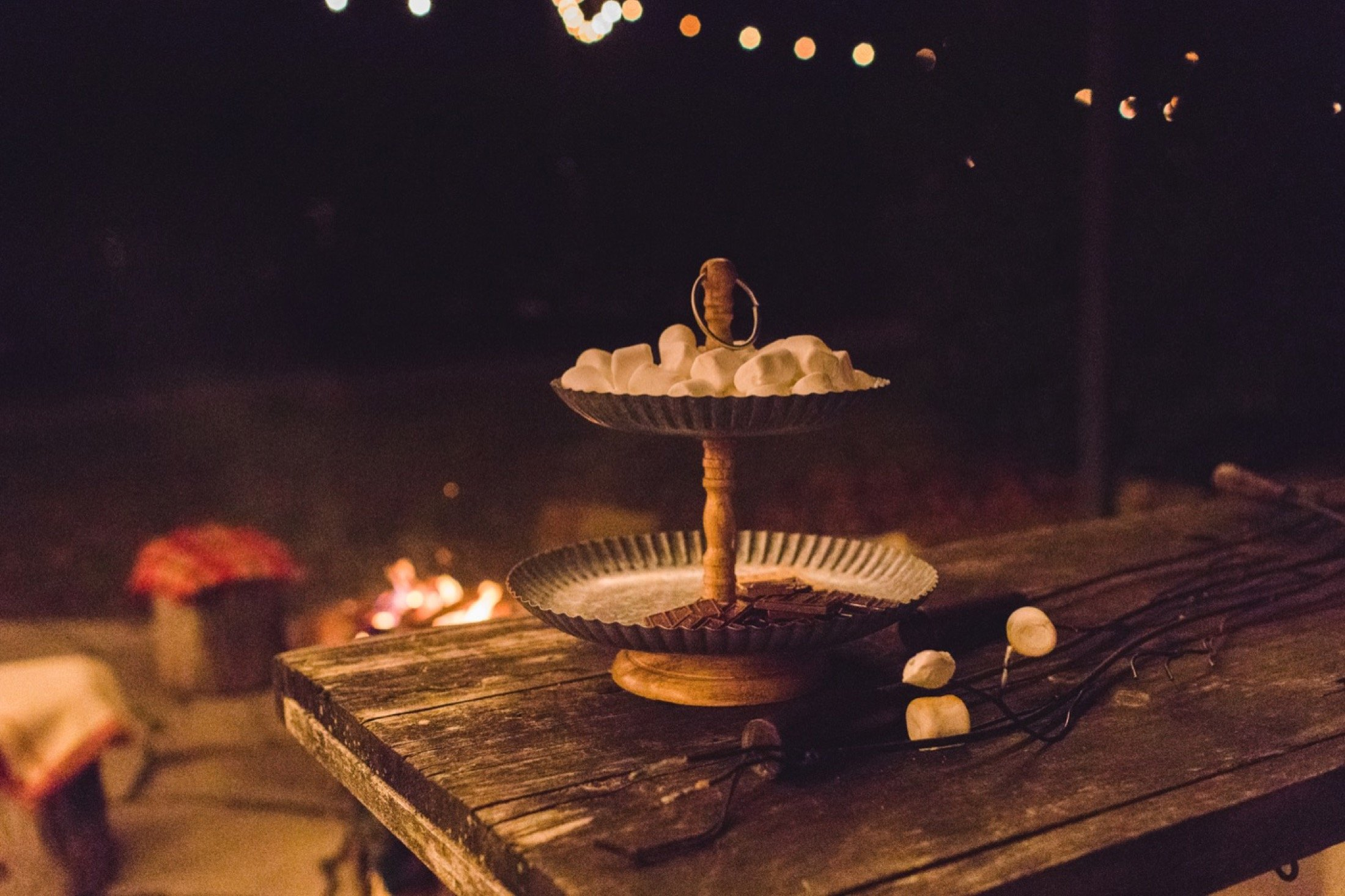 firepit, wedding, marshmallows, s'mores, Terrain