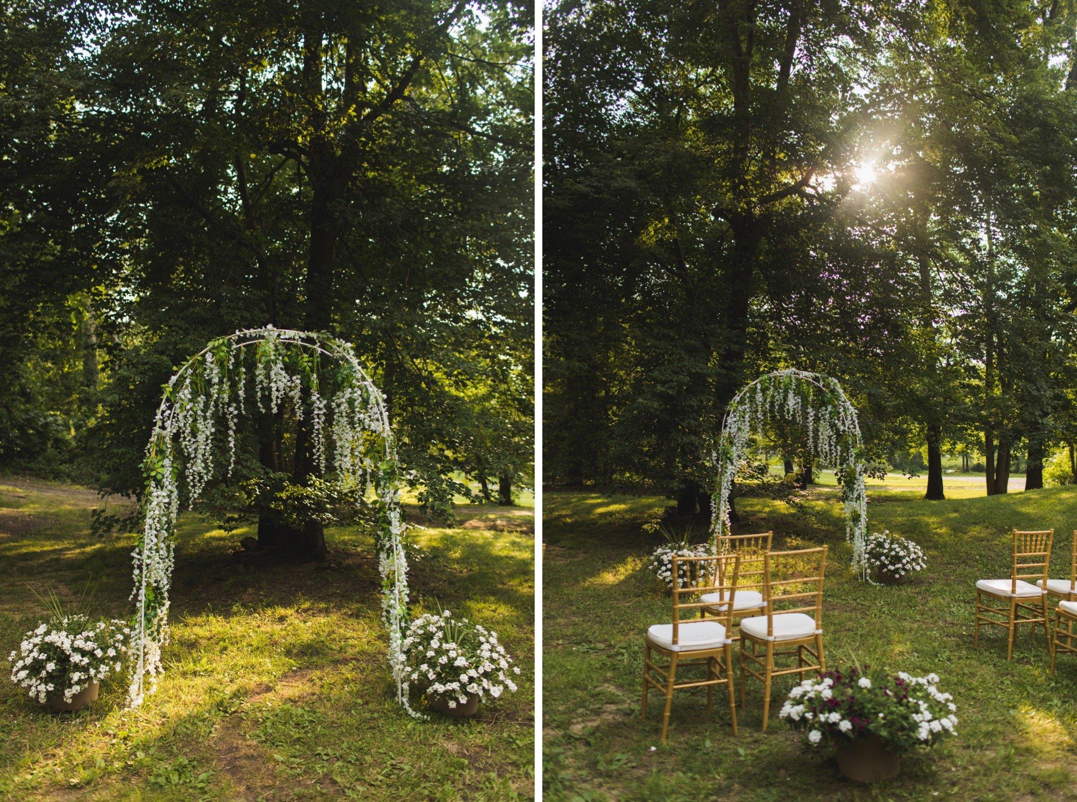 intimate backyard wedding, Philadelphia